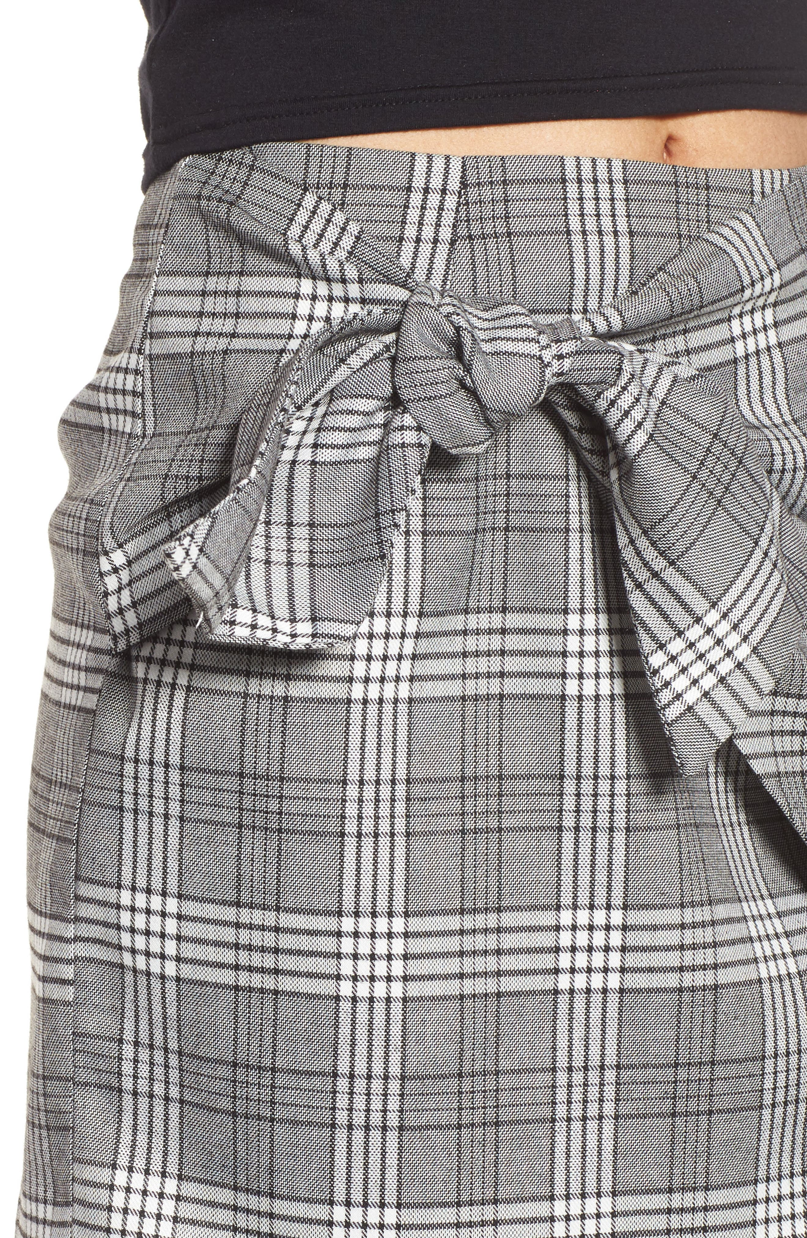 Alternate Image 5  - Lovers + Friends Julie Faux Wrap Plaid Skirt