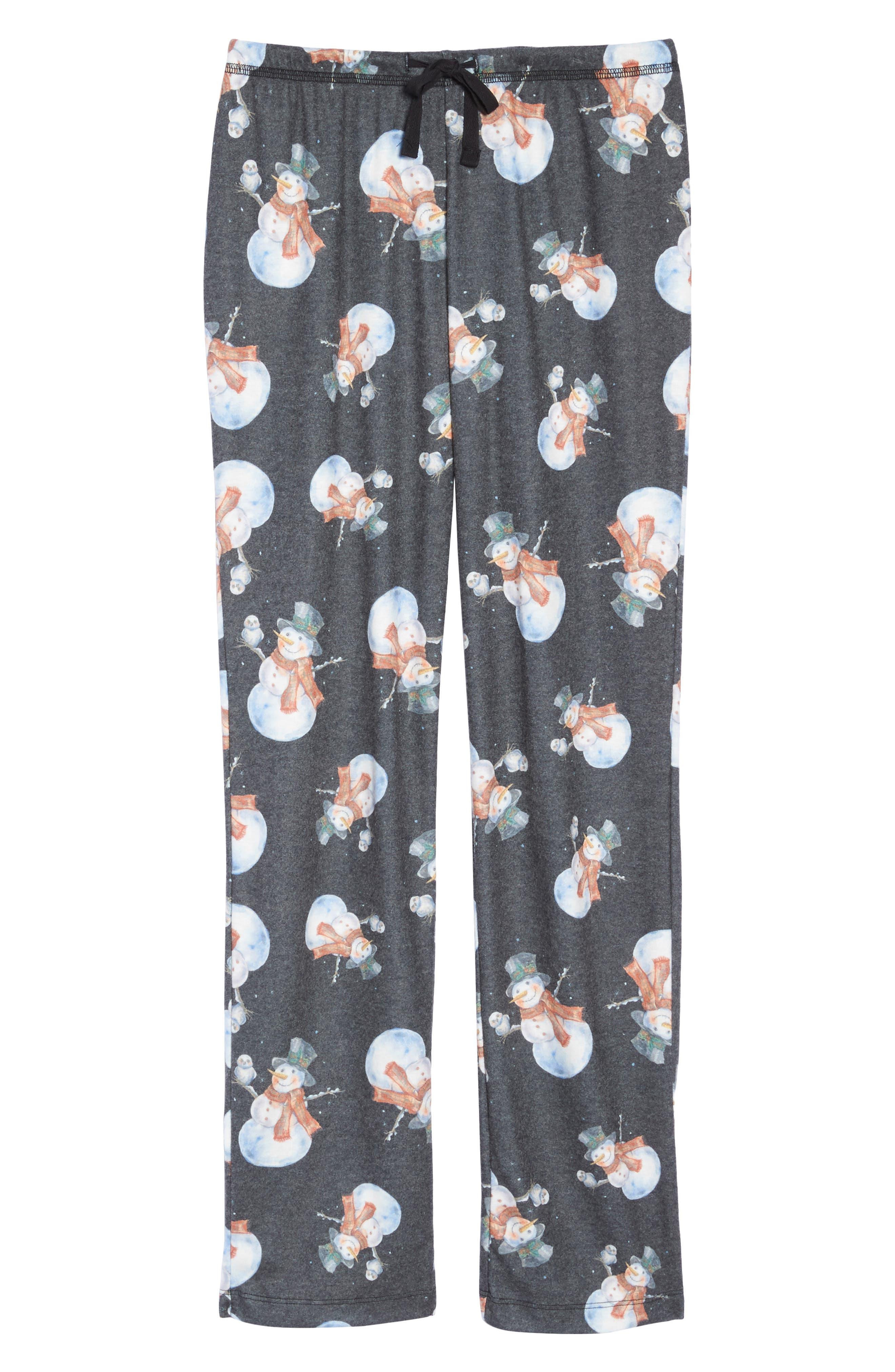 Emma Flannel Pajama Pants,                             Alternate thumbnail 4, color,                             Grey
