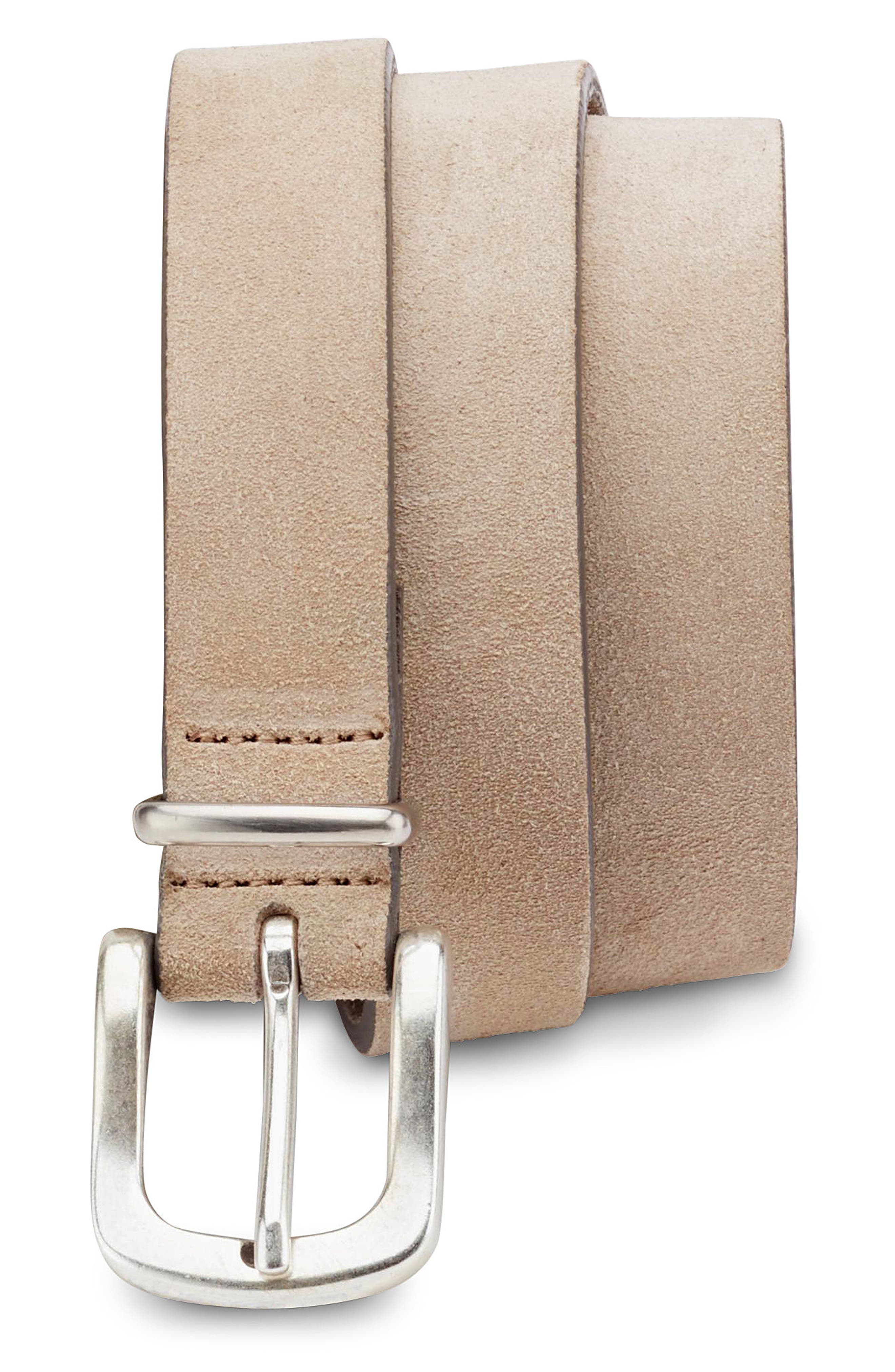 Stretch Suede Belt,                             Main thumbnail 1, color,                             Sand/ Grey