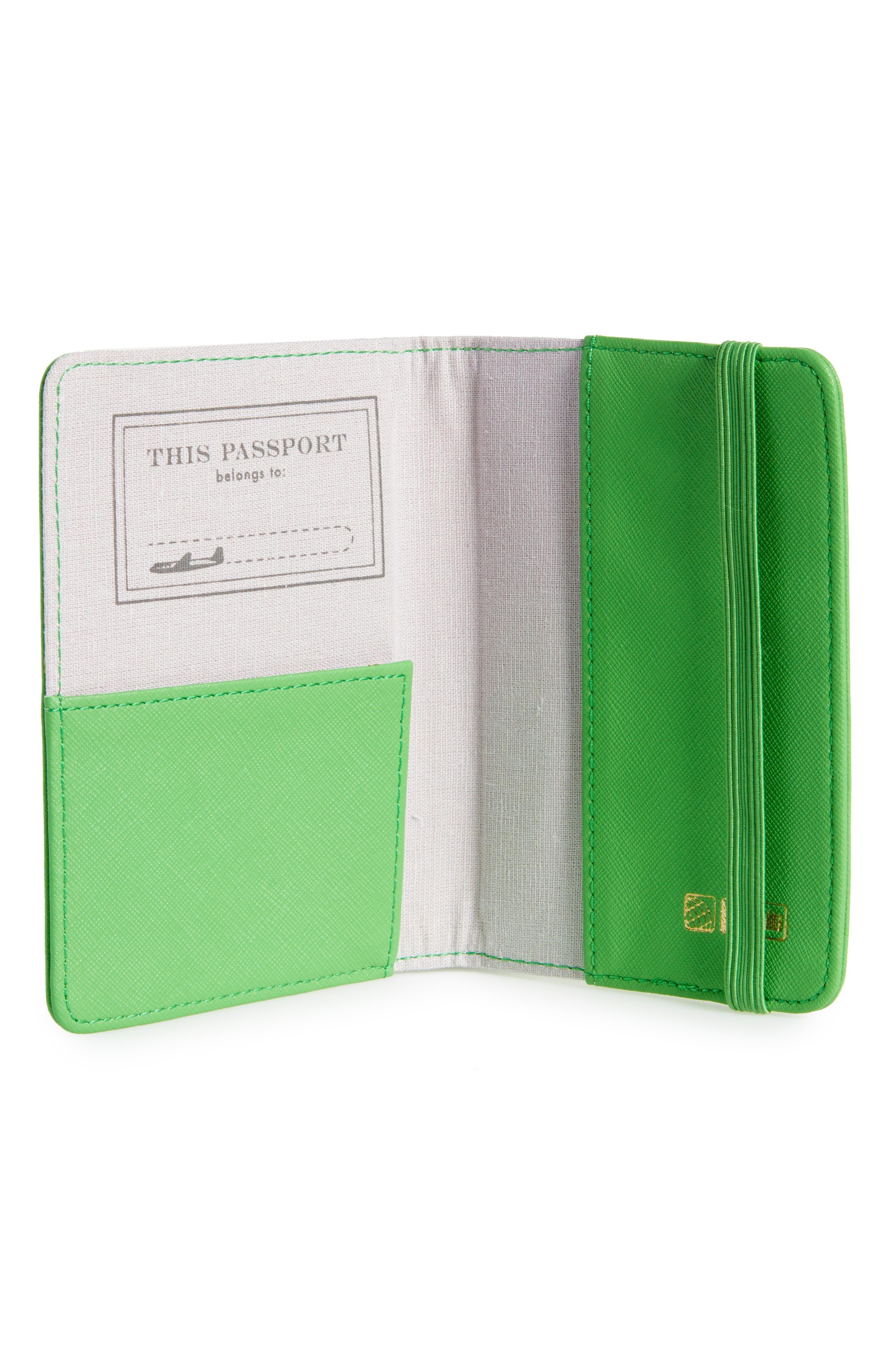 Correspondent Passport Cover,                             Alternate thumbnail 2, color,                             Green