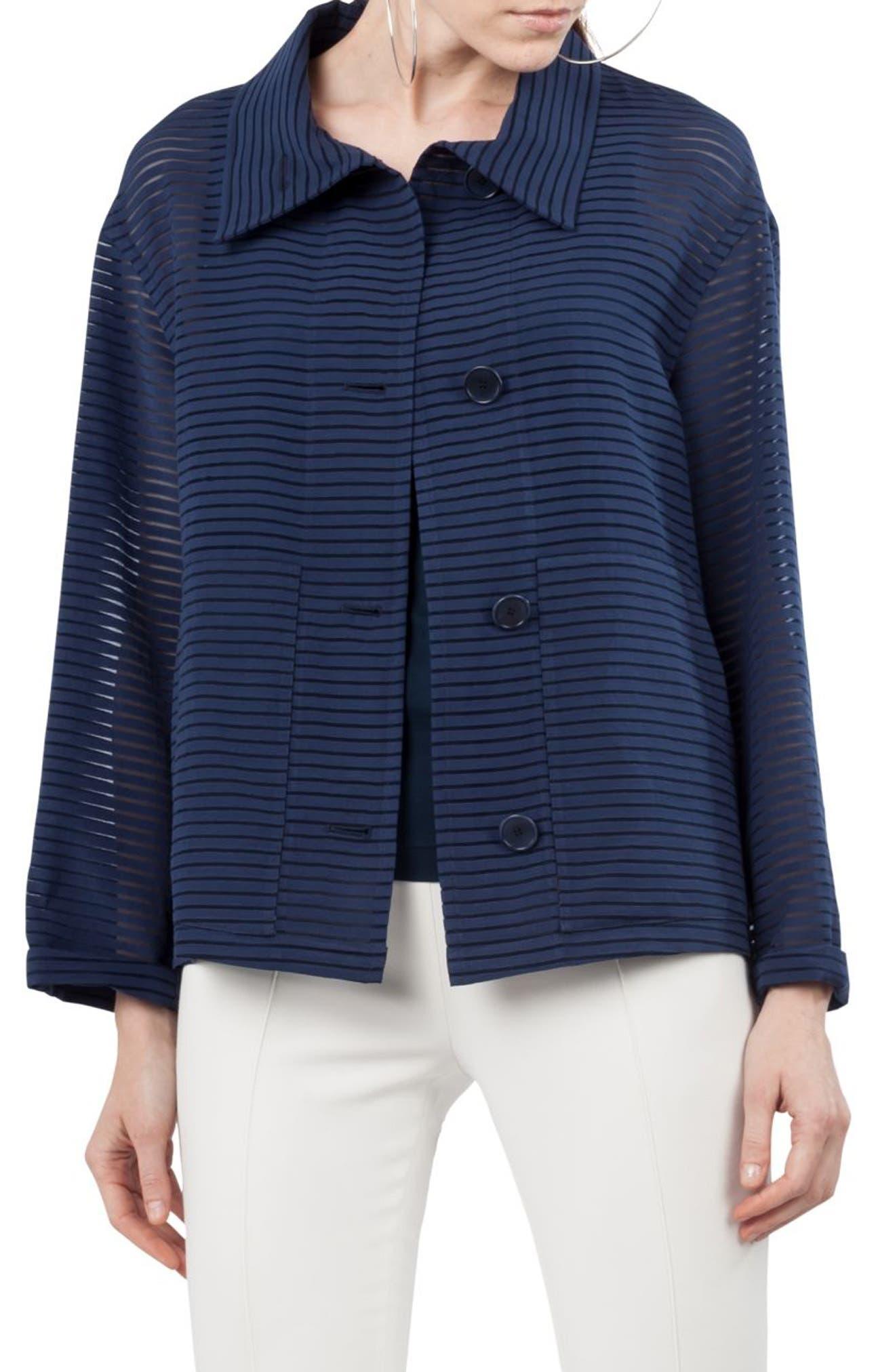 Akris punto Illusion Stripe Jacket