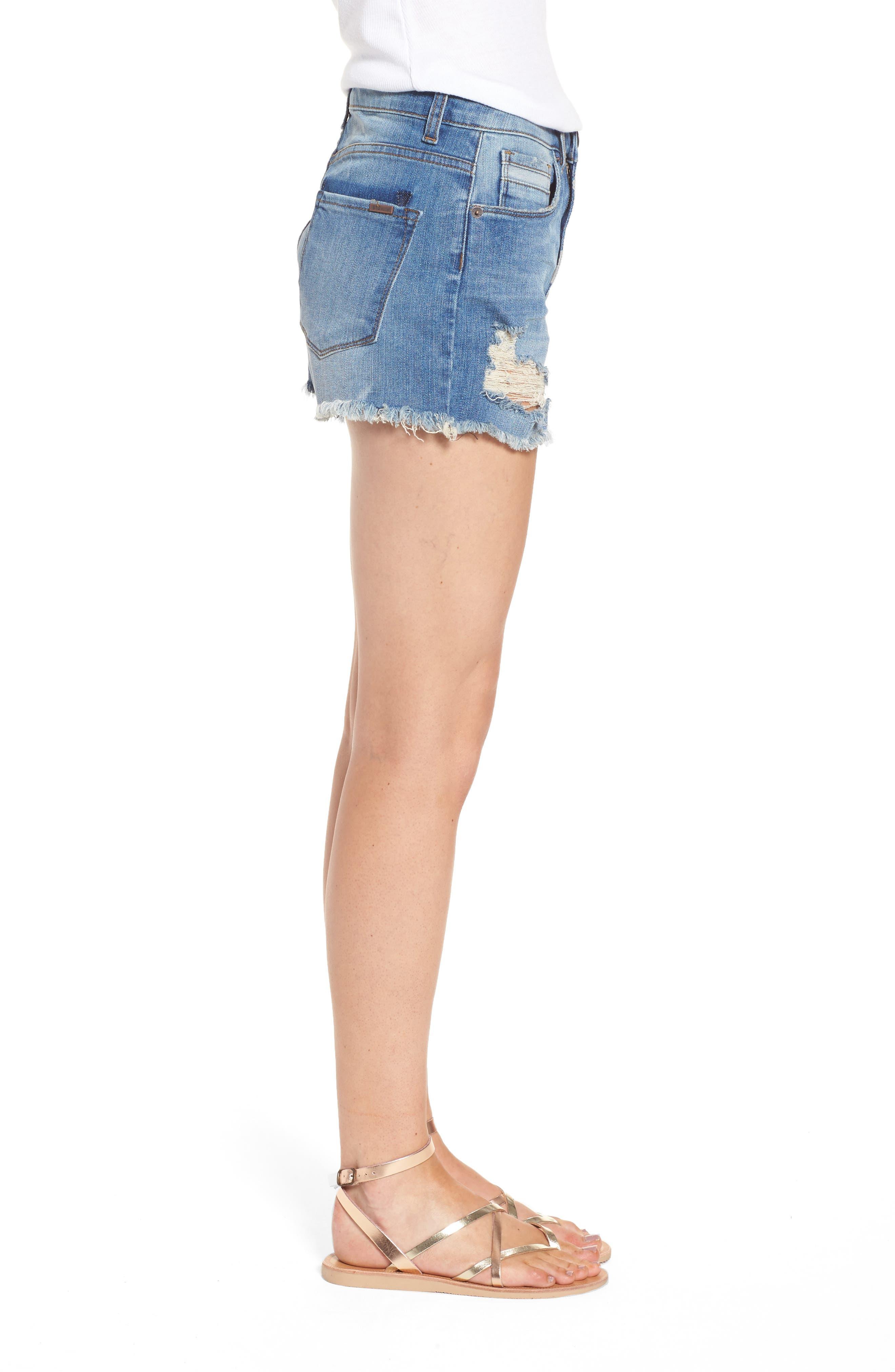 Alternate Image 3  - STS Blue Rosebowl Shadow Pocket Denim Shorts (Holby)