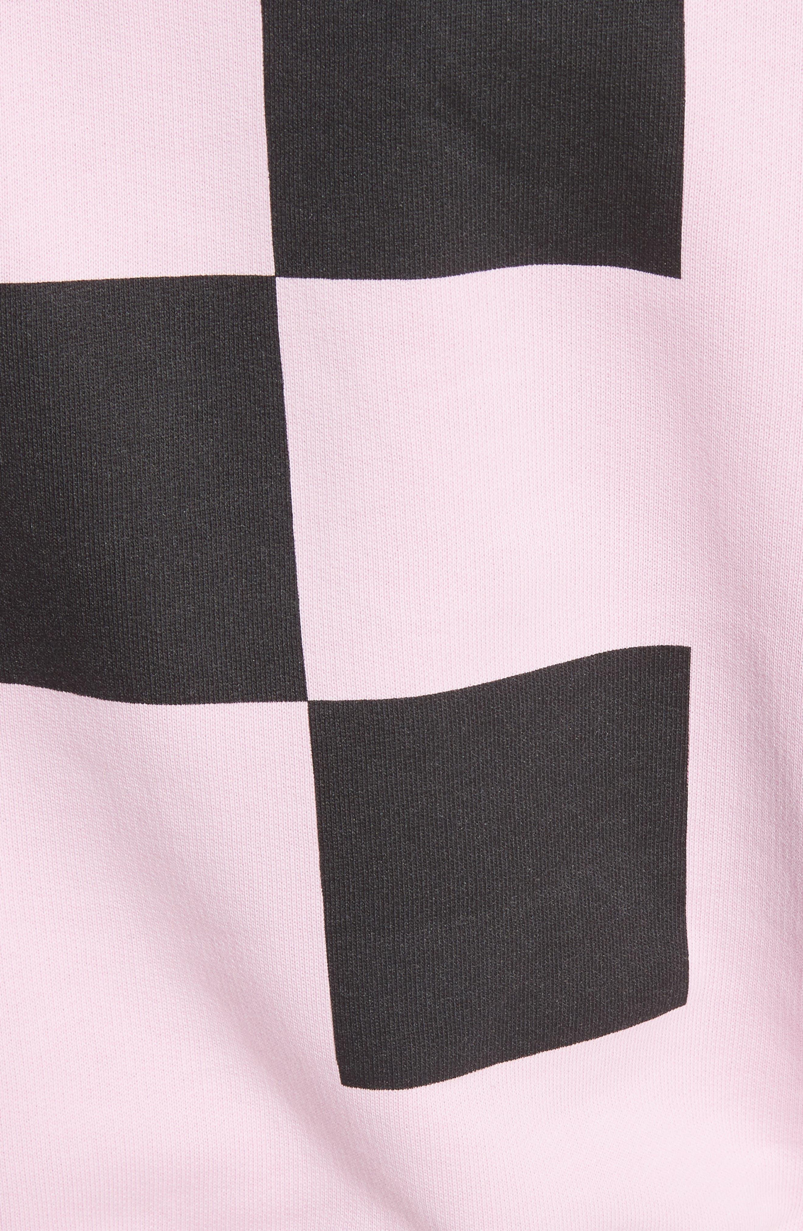 Taxi Crop Hoodie,                             Alternate thumbnail 7, color,                             Pink Black