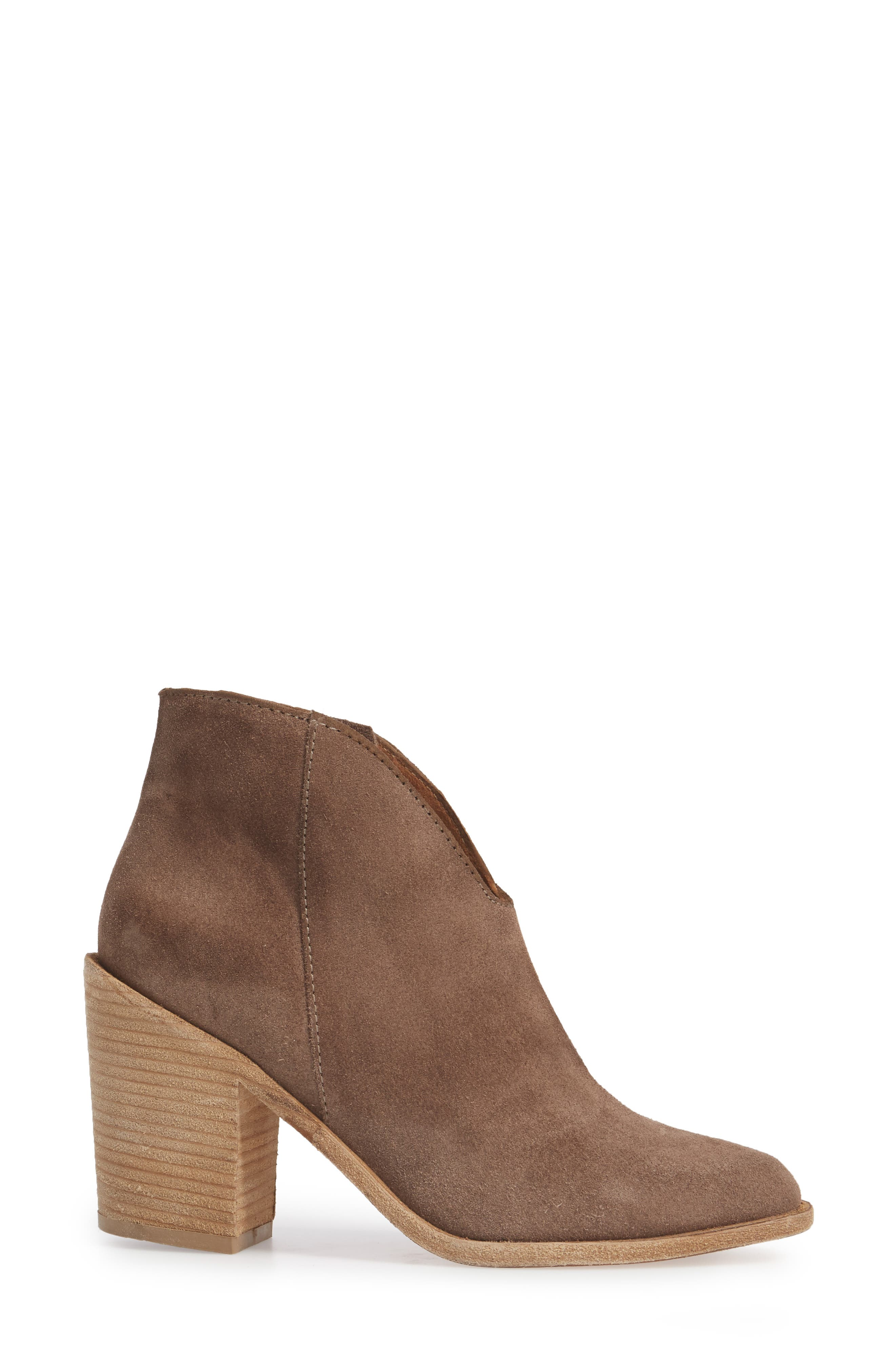 Kamet Bootie,                             Alternate thumbnail 3, color,                             Taupe Oiled Suede