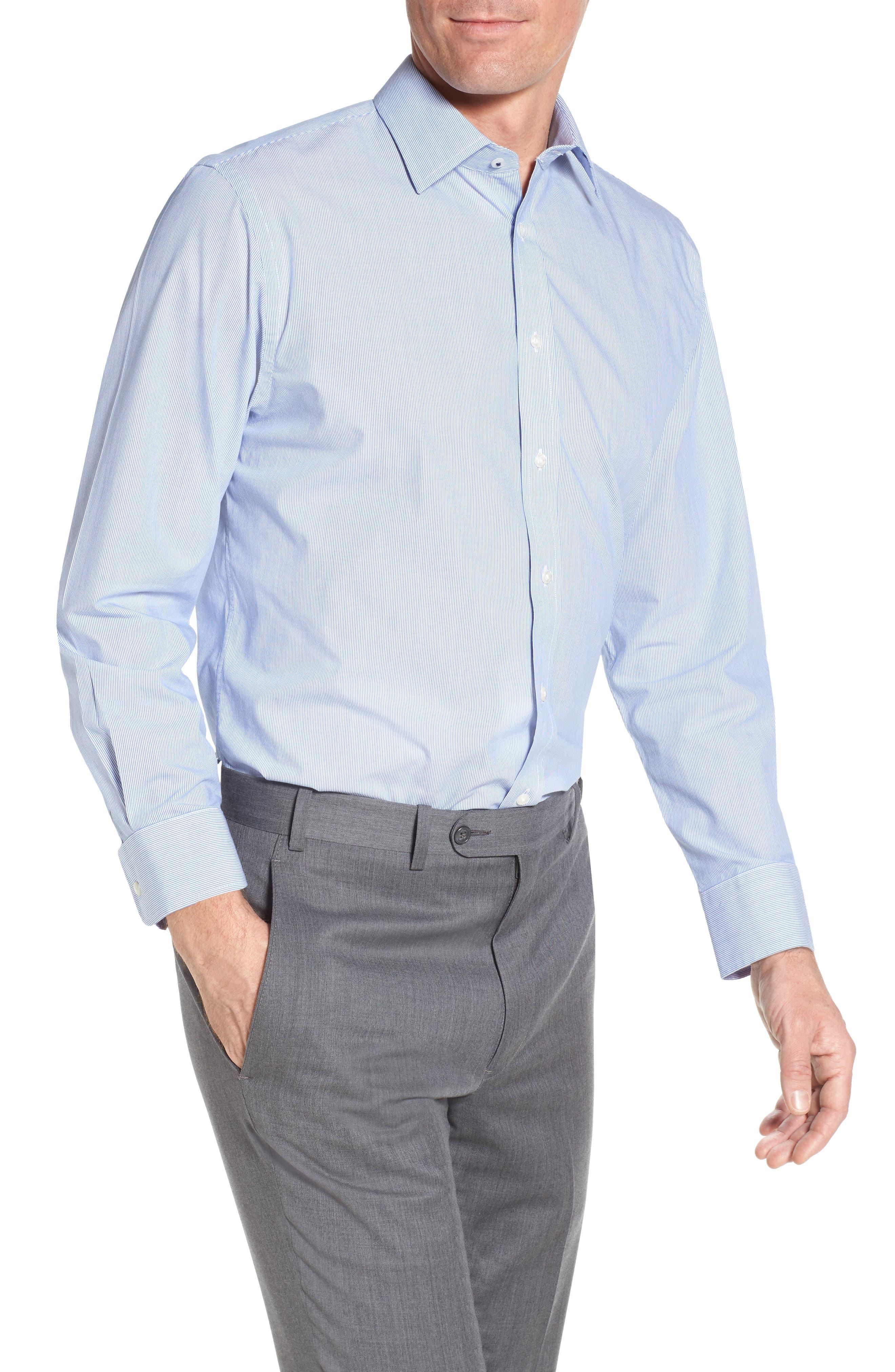 Nordstrom Men's Shop Tech-Smart Traditional Fit Stretch Stripe Dress Shirt