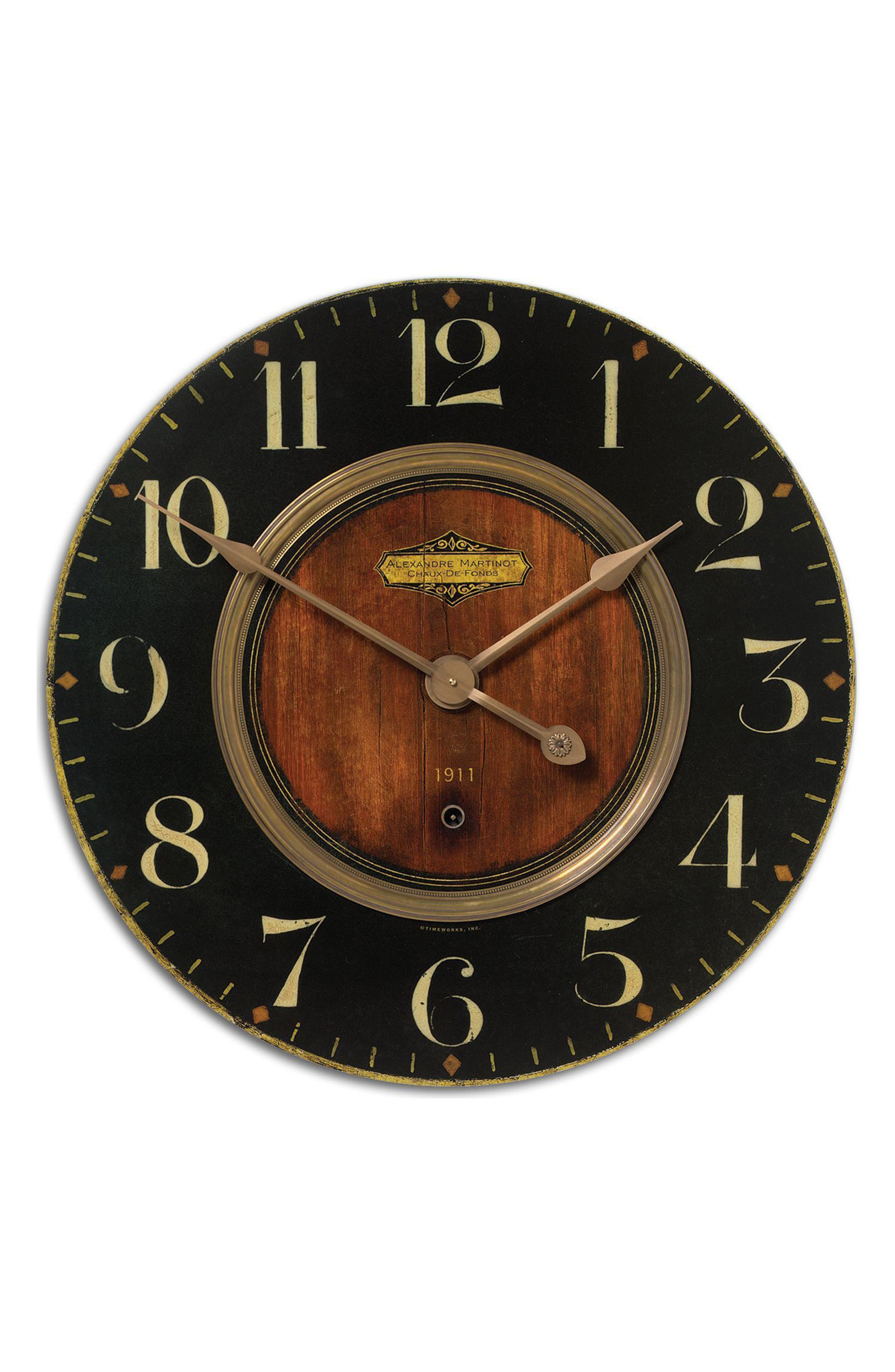 Alexandre Martinot Wall Clock,                             Main thumbnail 1, color,                             Metallic Rust/ Copper