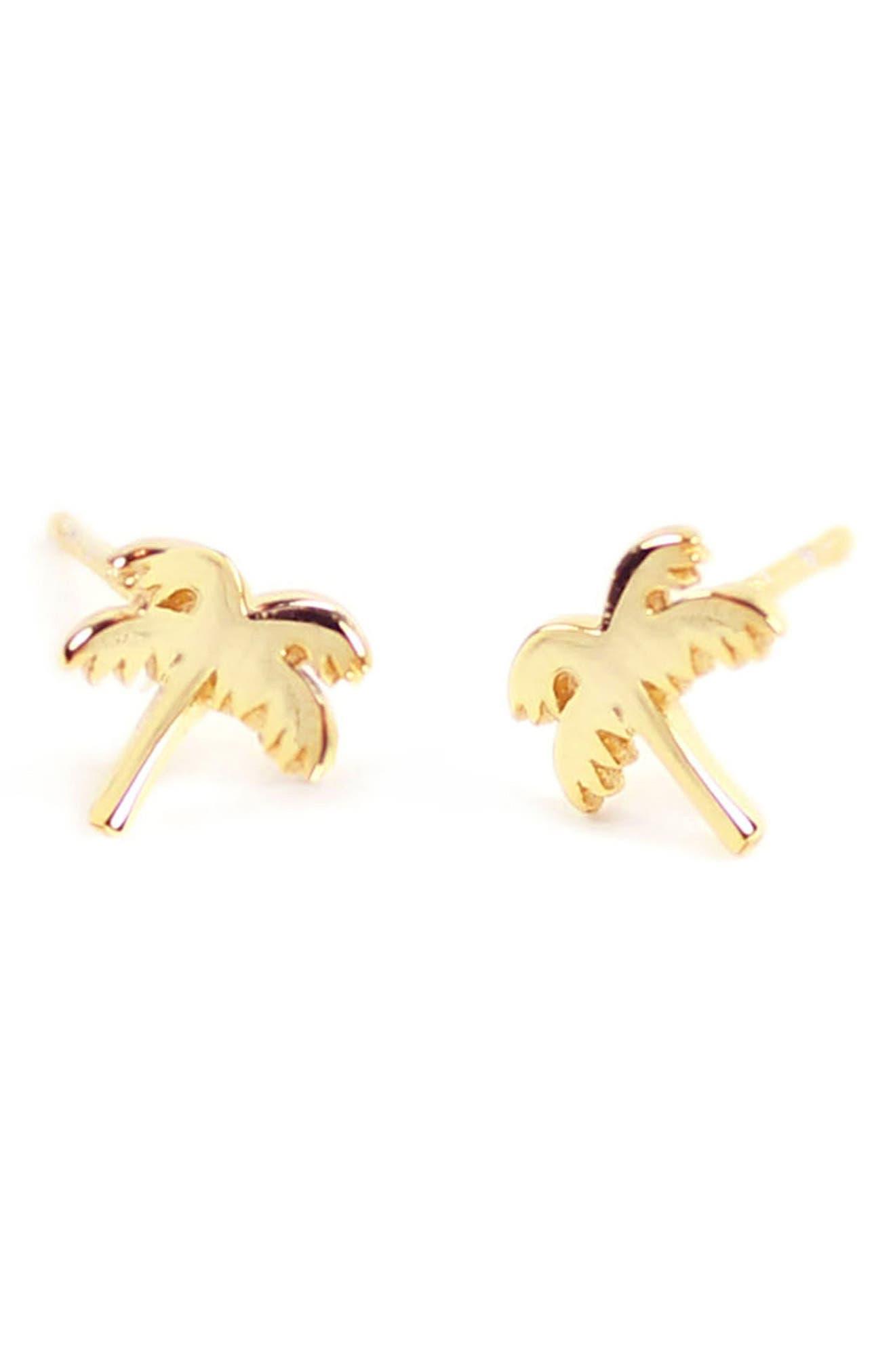 Kris Nations Palm Tree Stud Earrings