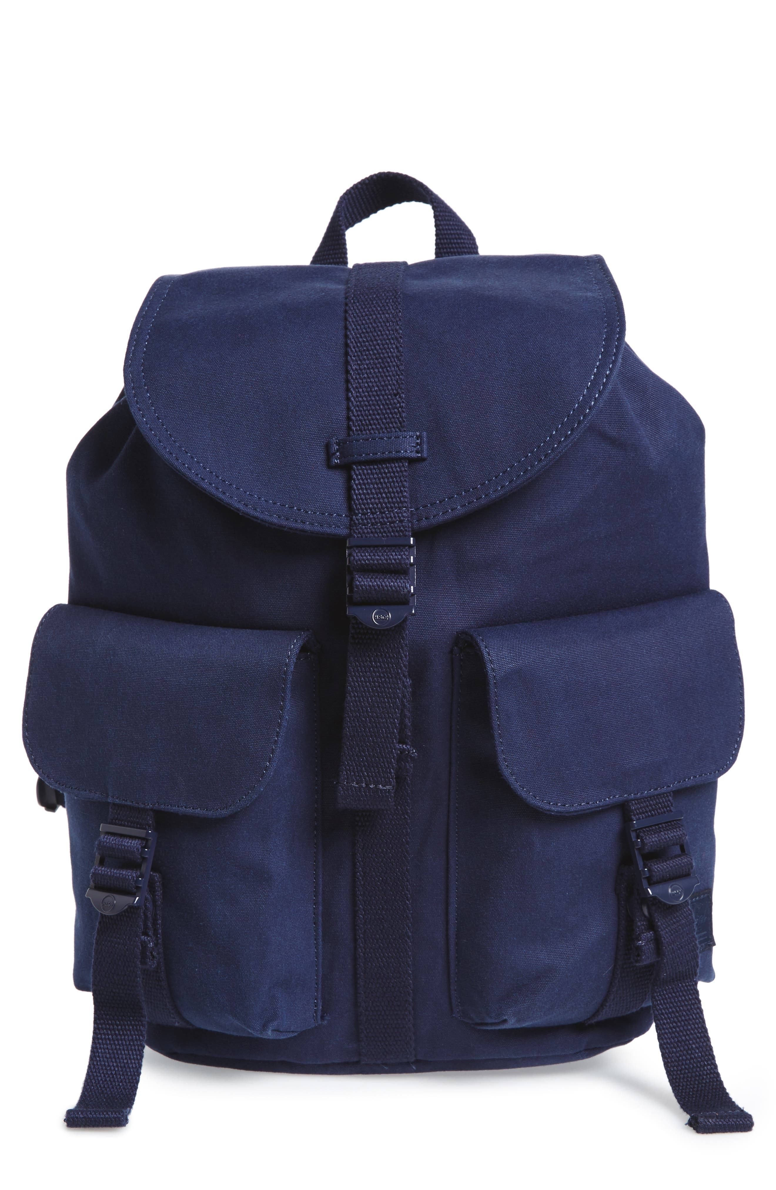 X-Small Dawson Canvas Backpack,                             Main thumbnail 1, color,                             Peacoat