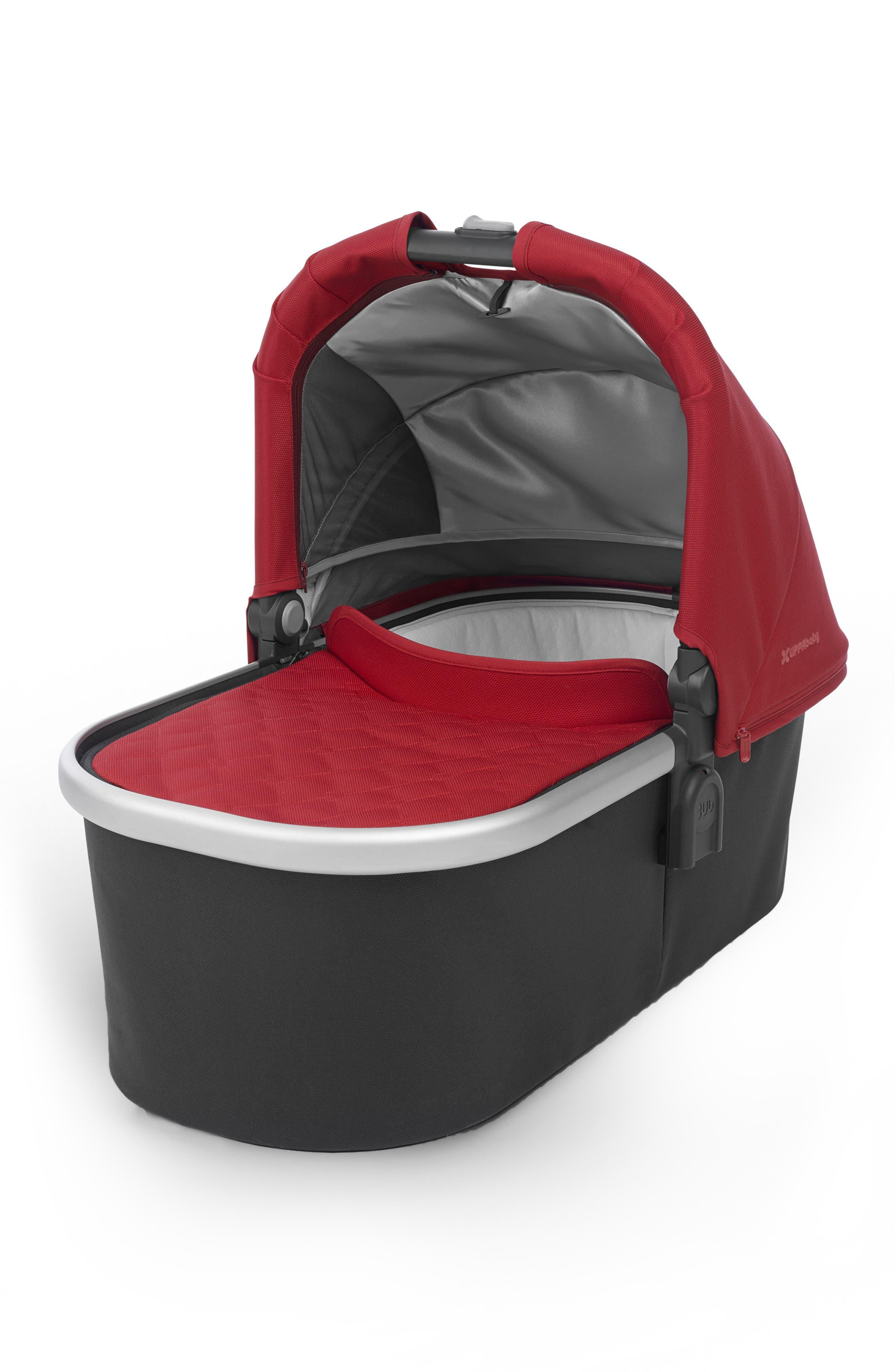 2018 Bassinet for CRUZ or VISTA Strollers,                         Main,                         color, Denny Red/ Silver