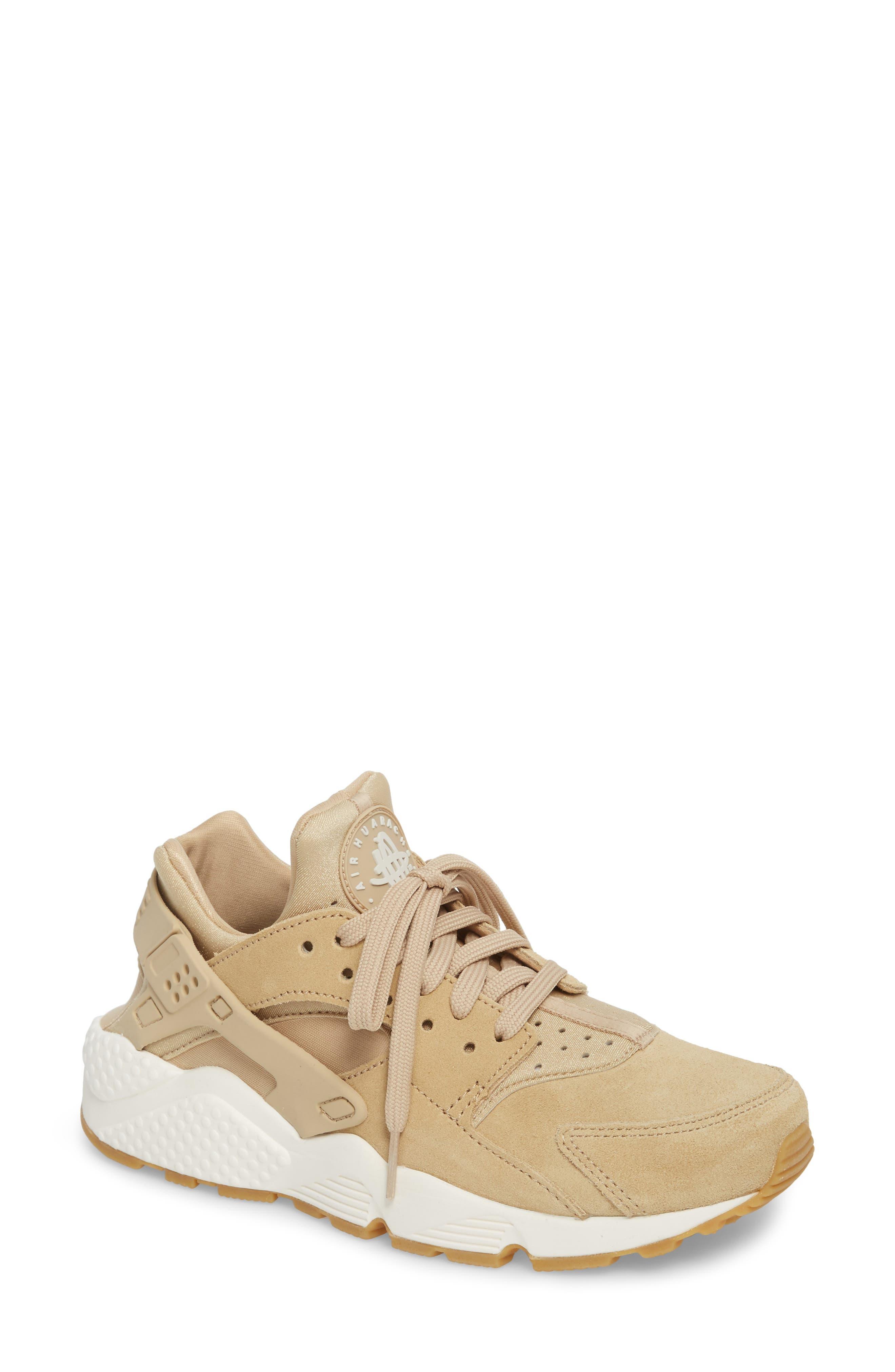 Air Huarache Run SD Sneaker,                             Main thumbnail 1, color,                             Mushroom/ Bone/ Sail/ Brown