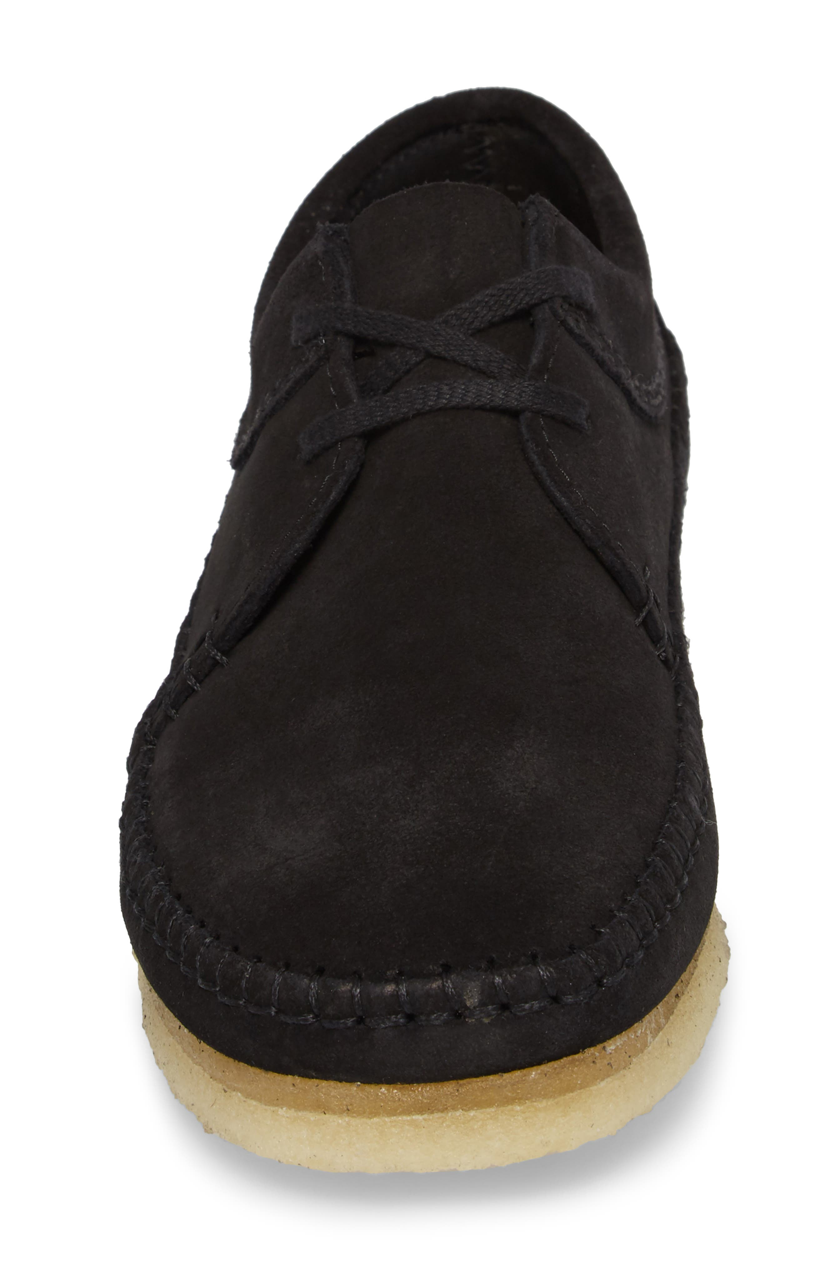 Weaver Moc Toe Derby,                             Alternate thumbnail 4, color,                             Black Suede