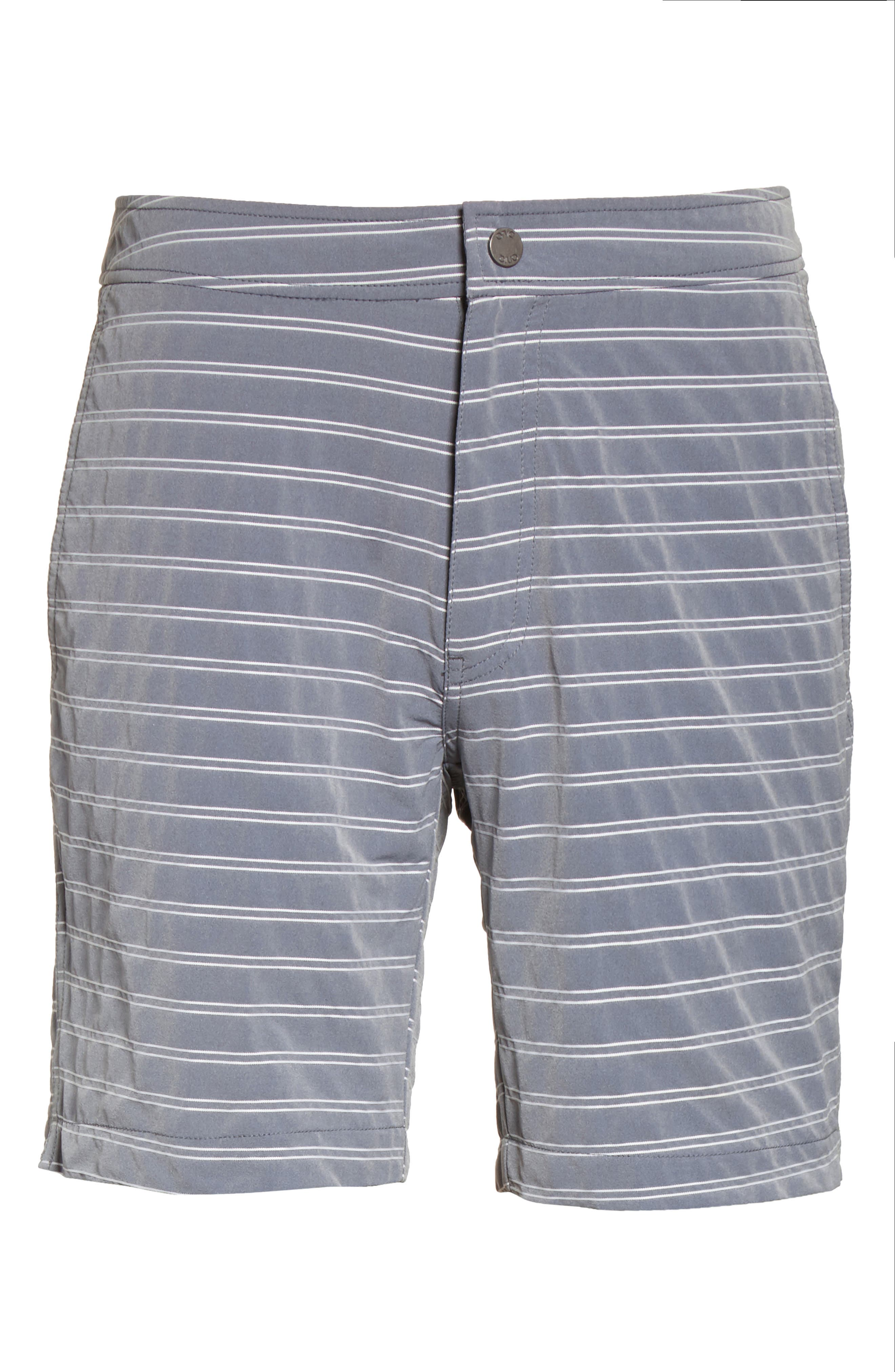 Alternate Image 6  - ONIA Calder Stripe Board Shorts
