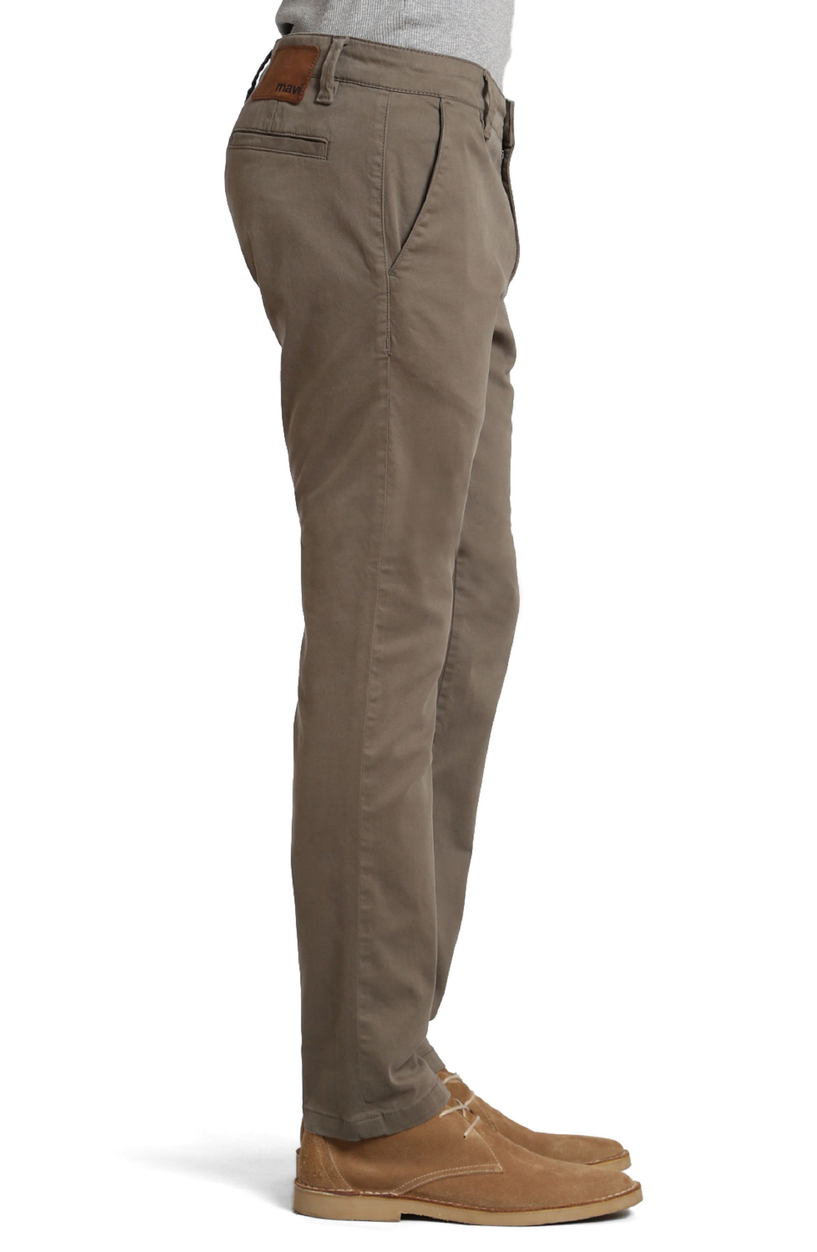 Johnny Twill Pants,                             Alternate thumbnail 3, color,                             Dusty Olive Twill