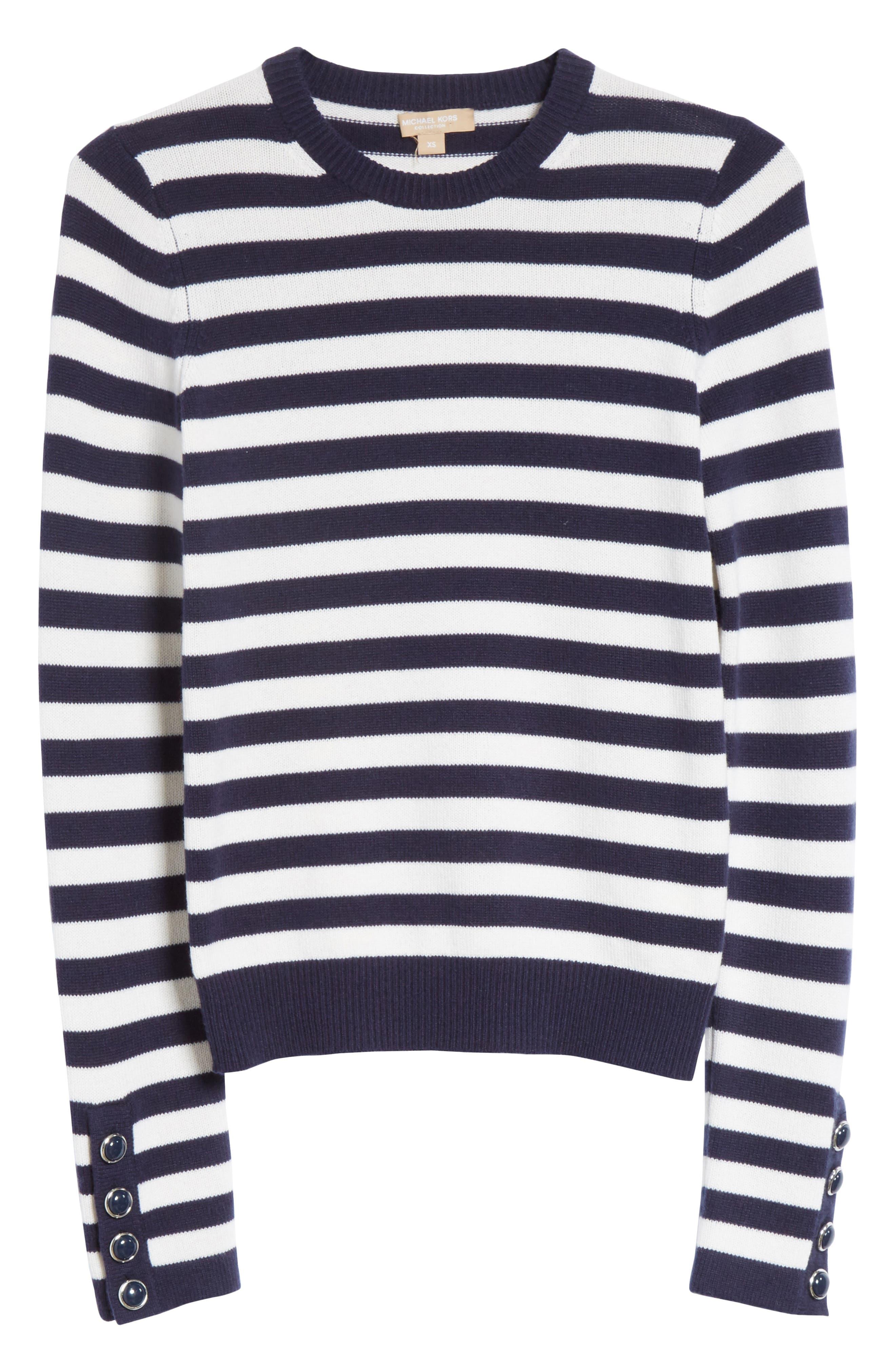 Alternate Image 6  - Michael Kors Button Cuff Cashmere Sweater