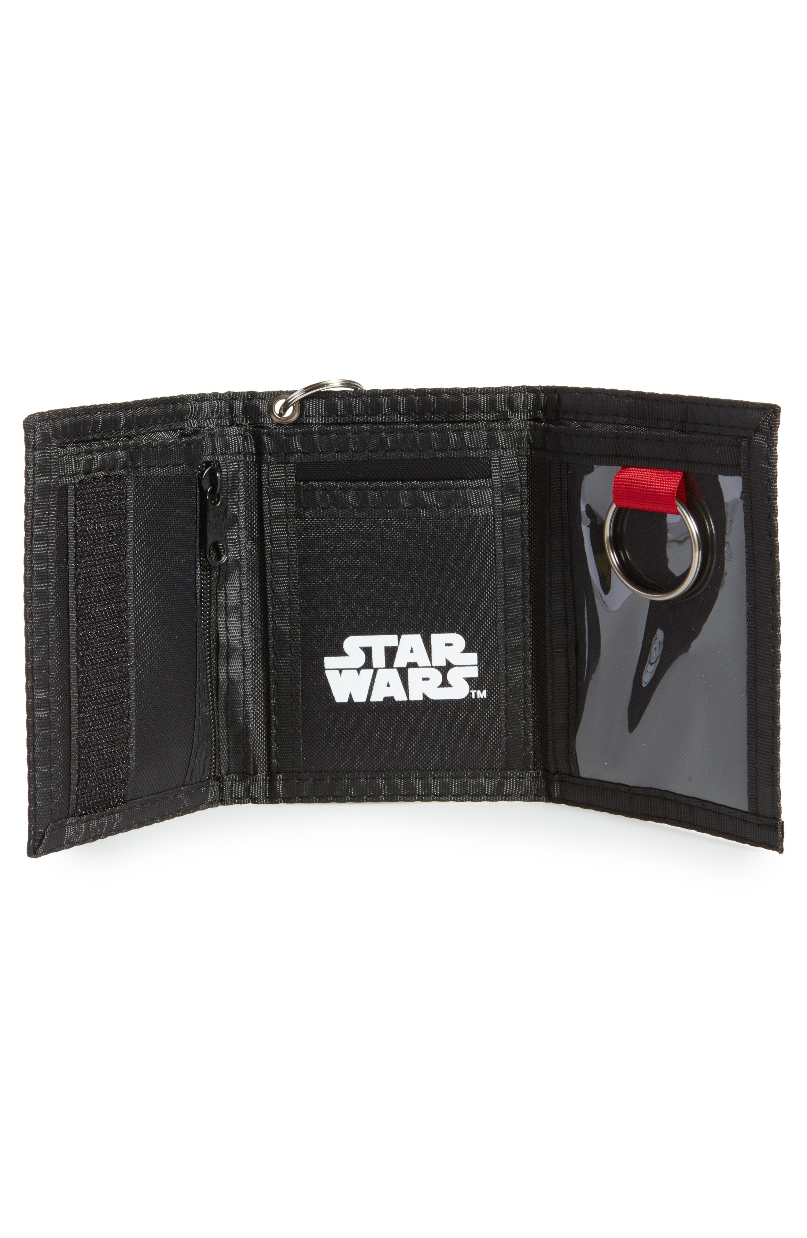 Darth Vader Wallet & Logo Light Key Chain,                             Alternate thumbnail 2, color,                             Black