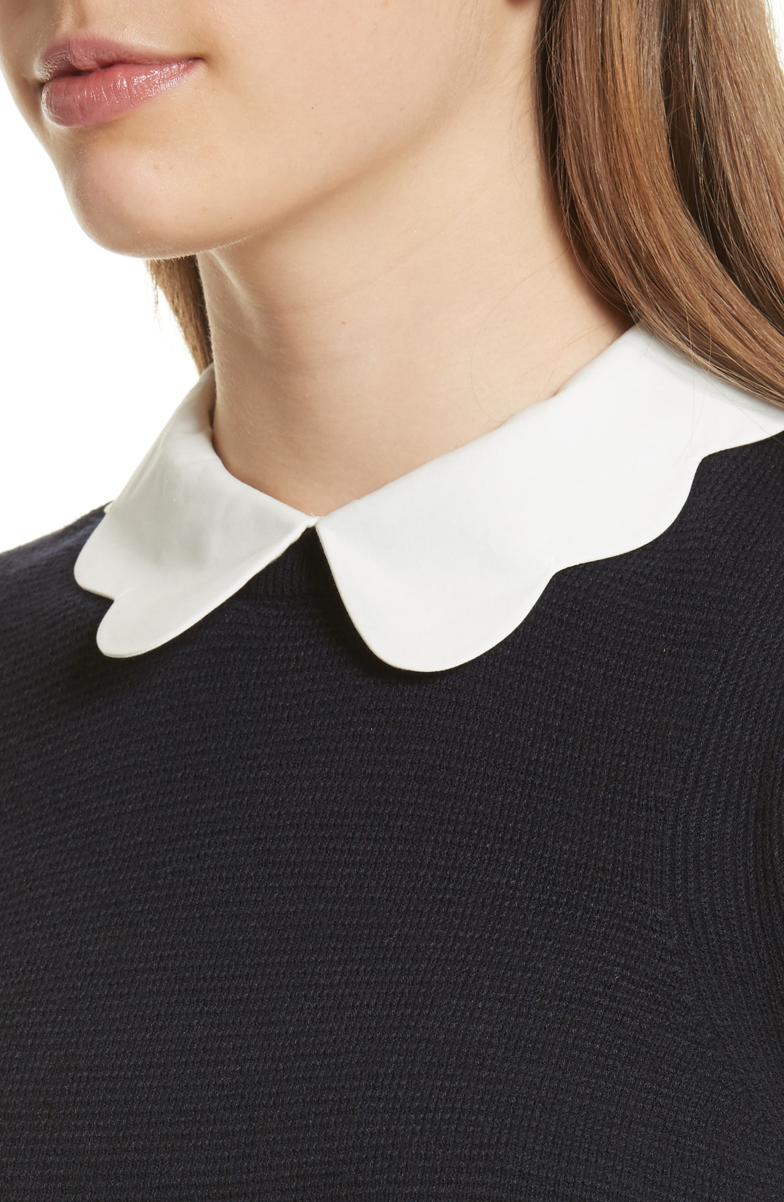 Alternate Image 4  - Ted Baker London Scallop Collar Sweater