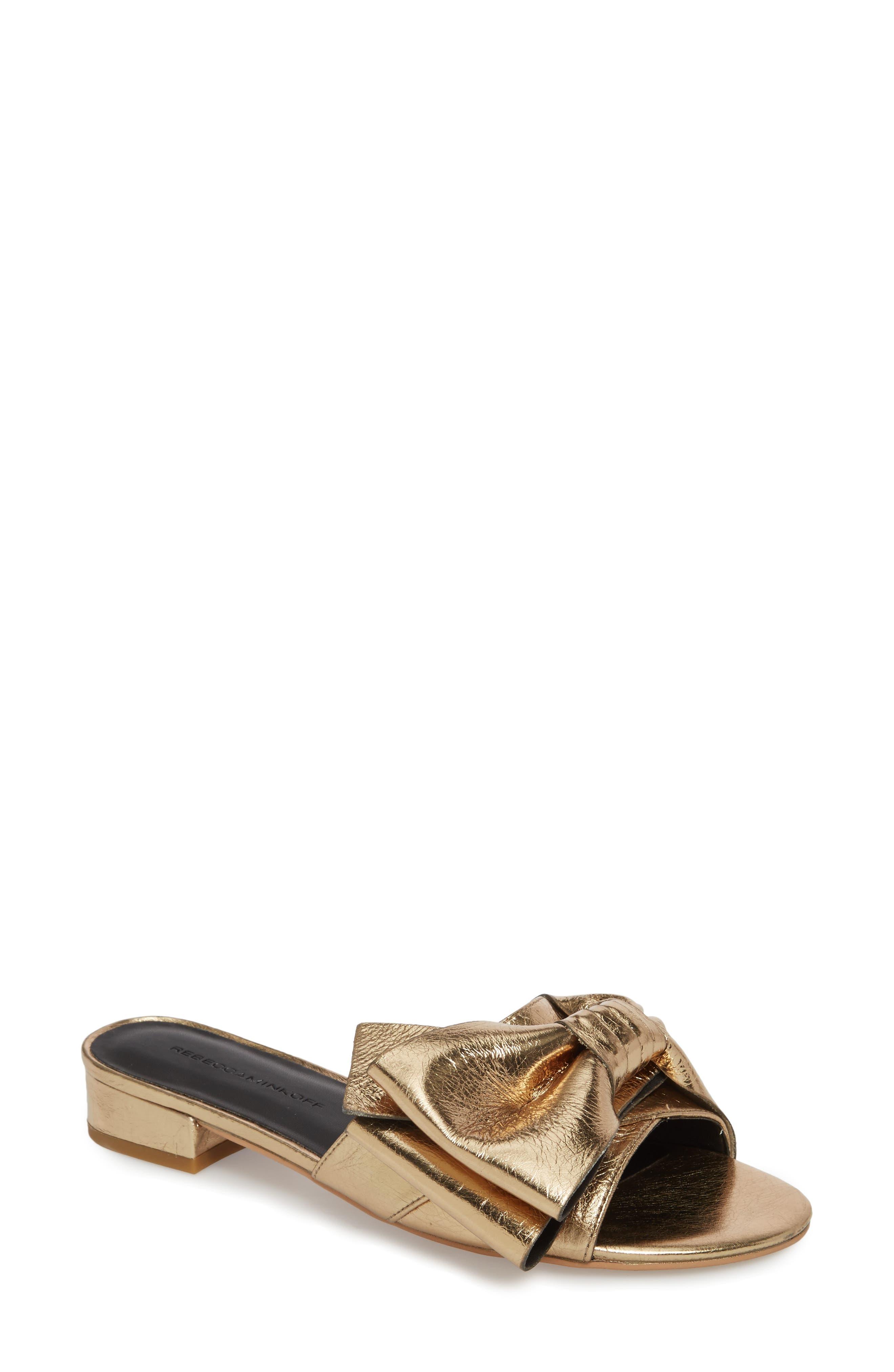 Calista Sandal,                         Main,                         color, Gold Metallic Leather
