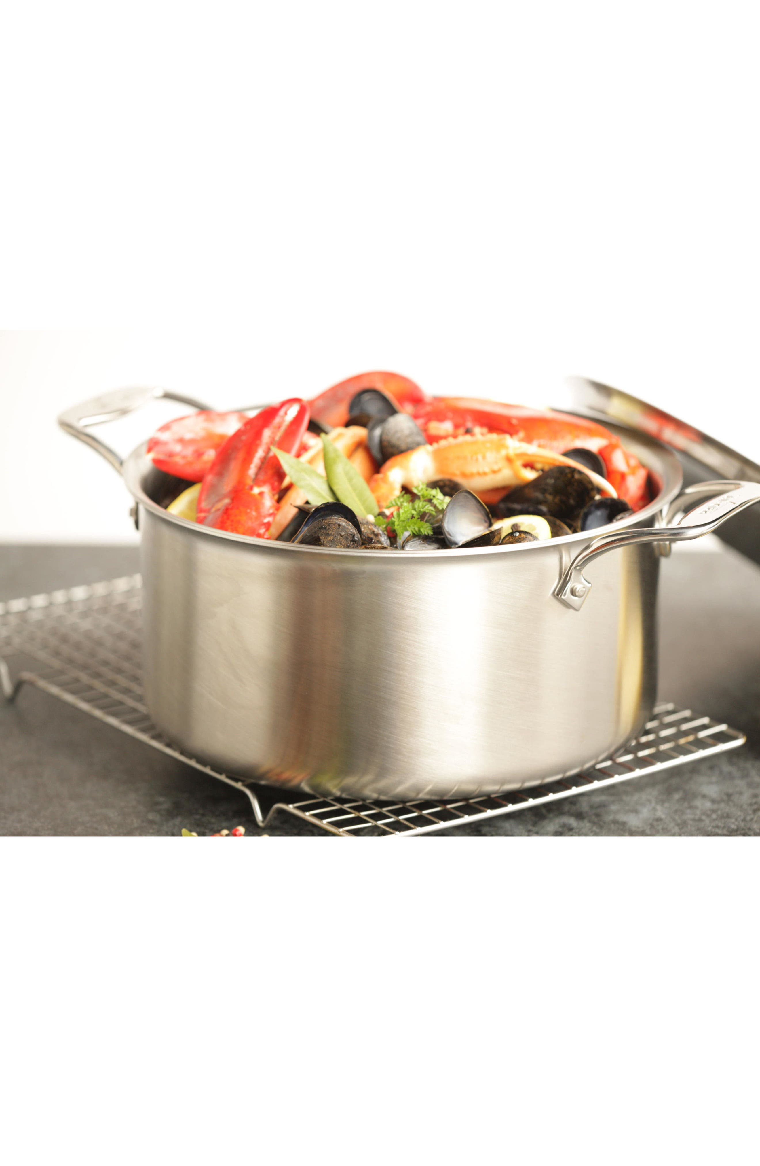 4-Quart Stainless Steel Soup Pot,                             Alternate thumbnail 2, color,                             Stainless