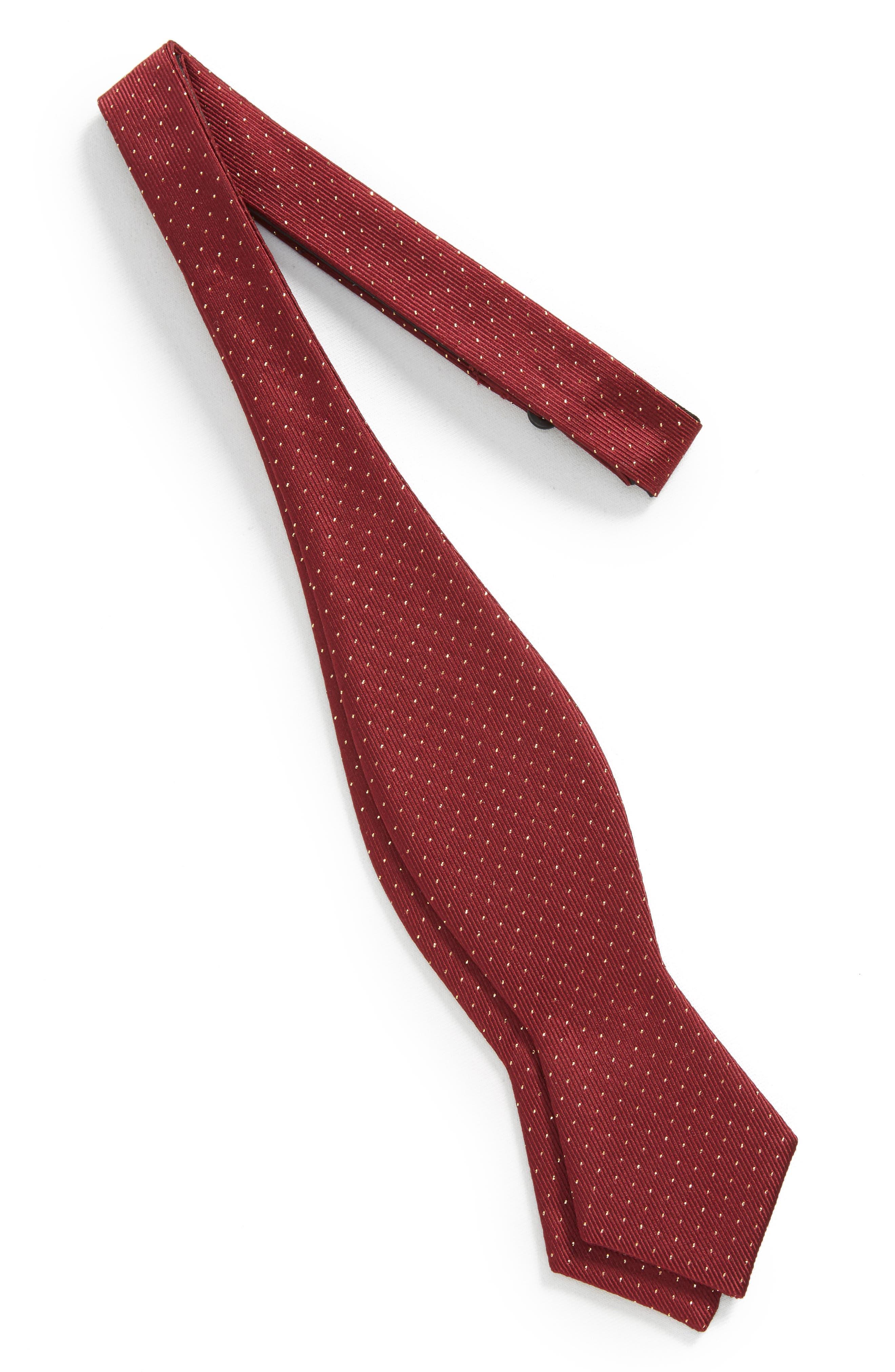 Flicker Self Bow Tie,                             Alternate thumbnail 2, color,                             Burgundy