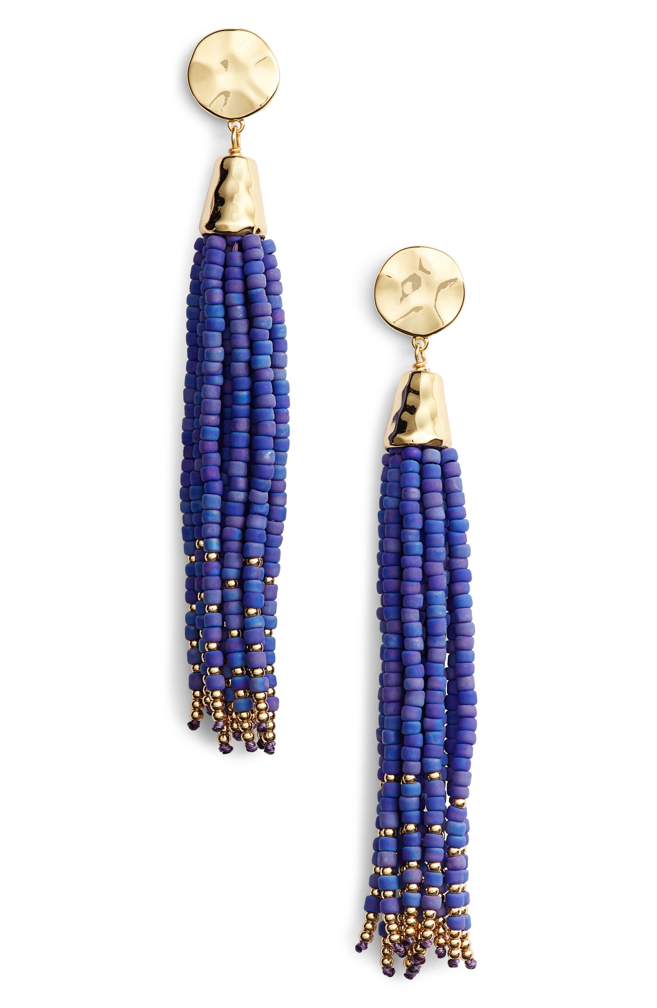 gorjana Salina Beaded Tassel Earrings