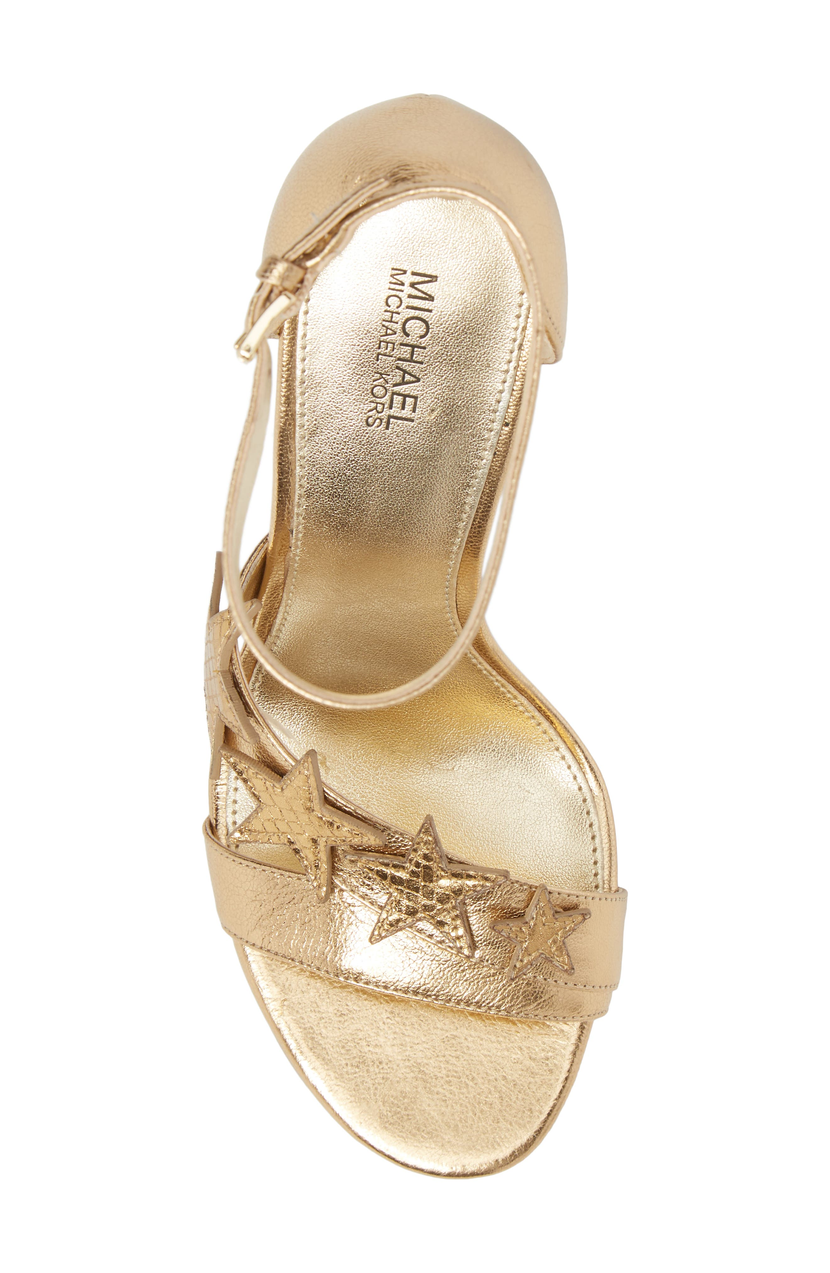 Lexie Sandal,                             Alternate thumbnail 5, color,                             Pale Gold Nappa Leather