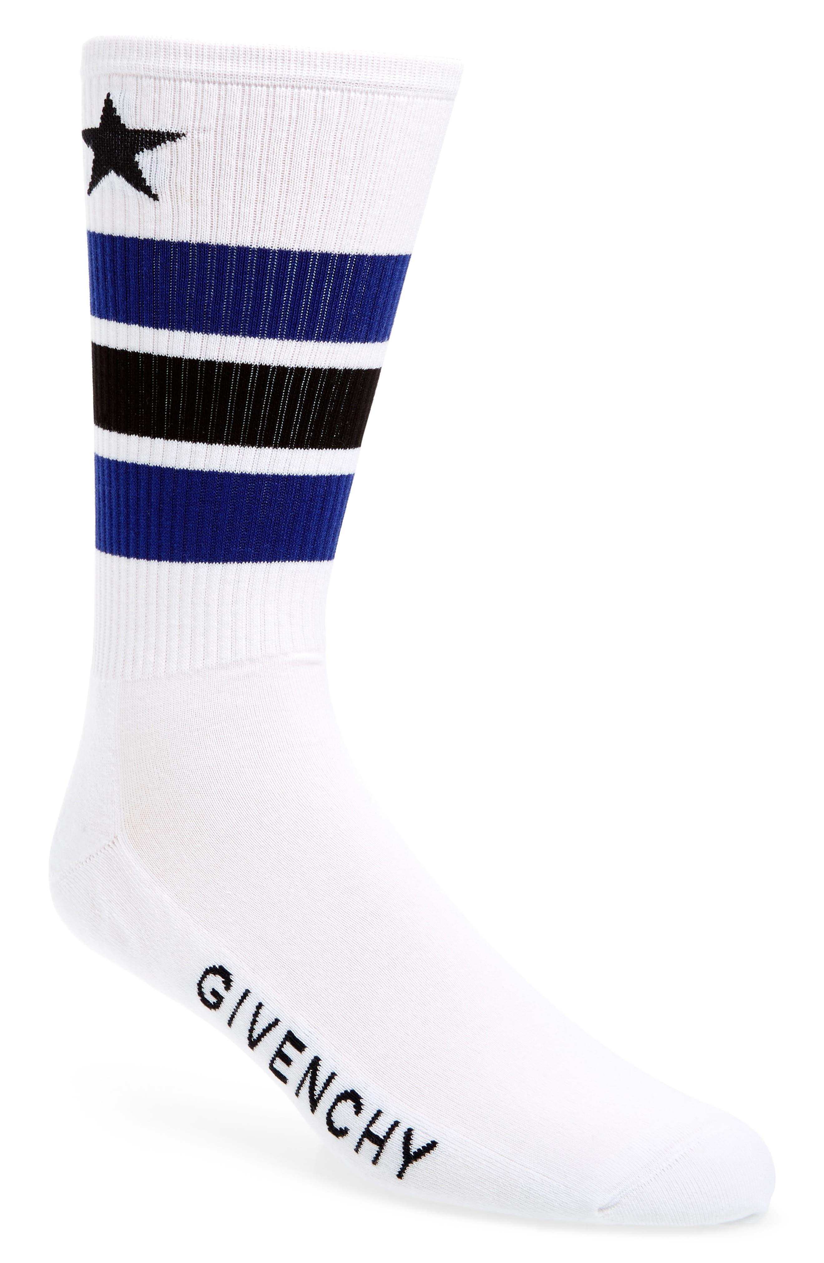 Main Image - Givenchy Logo Stripe Socks