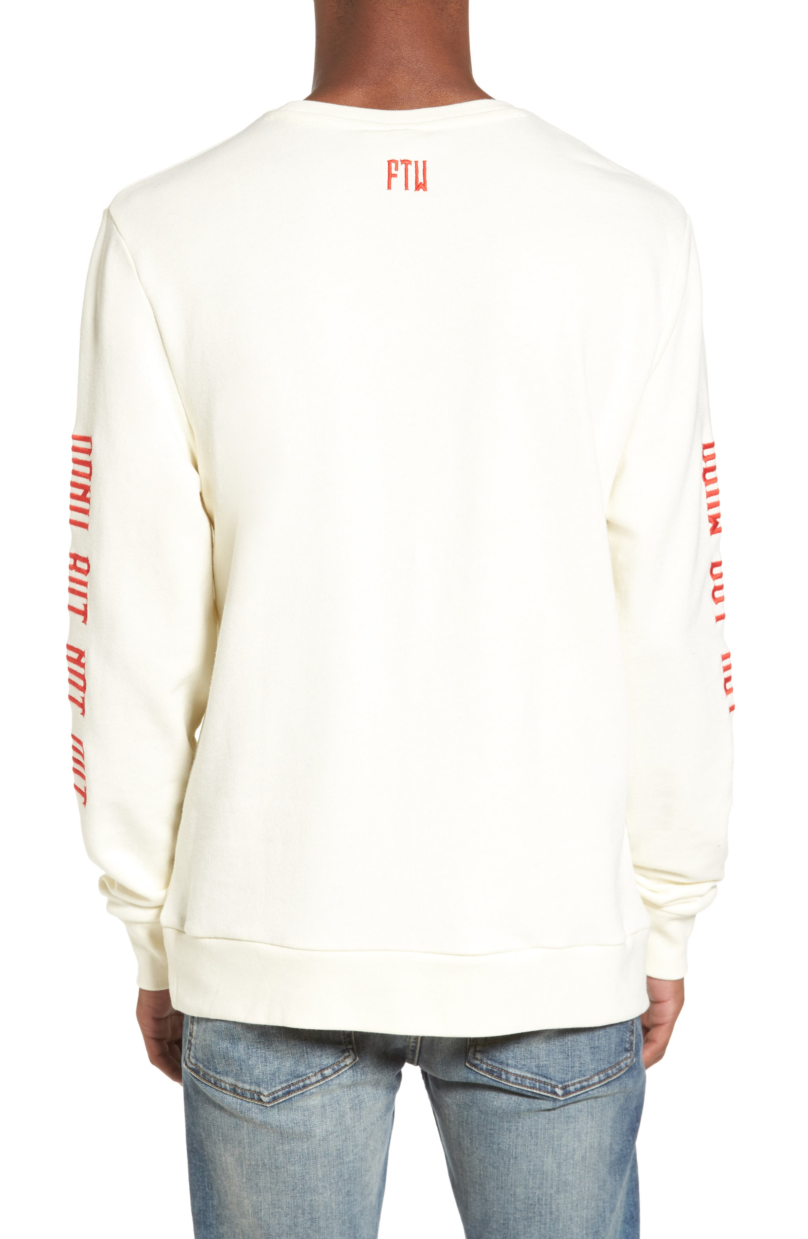 Up North Fleece Sweatshirt,                             Alternate thumbnail 2, color,                             Bone