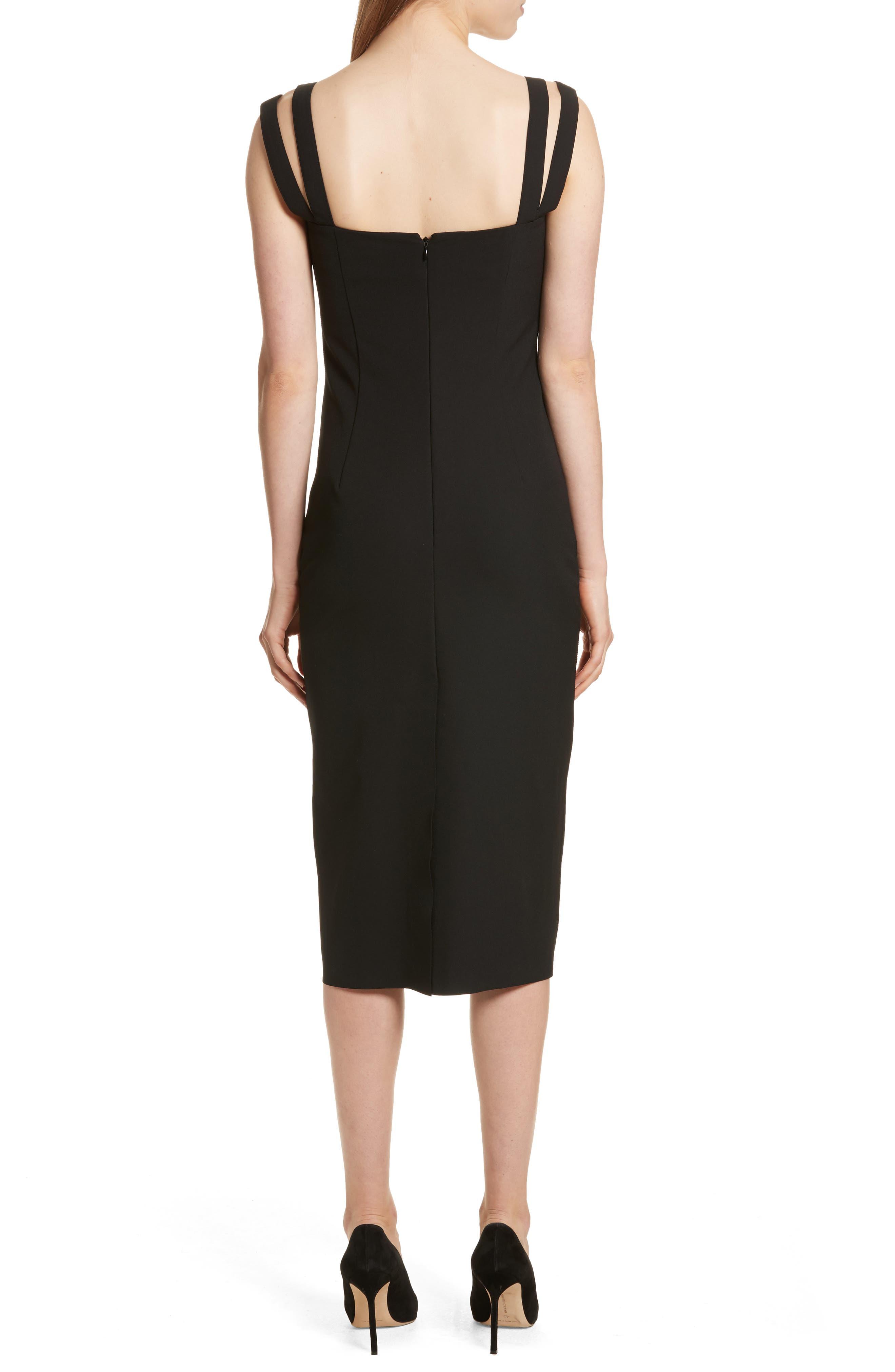 Perform Tech Perfect Sheath Dress,                             Alternate thumbnail 2, color,                             Black