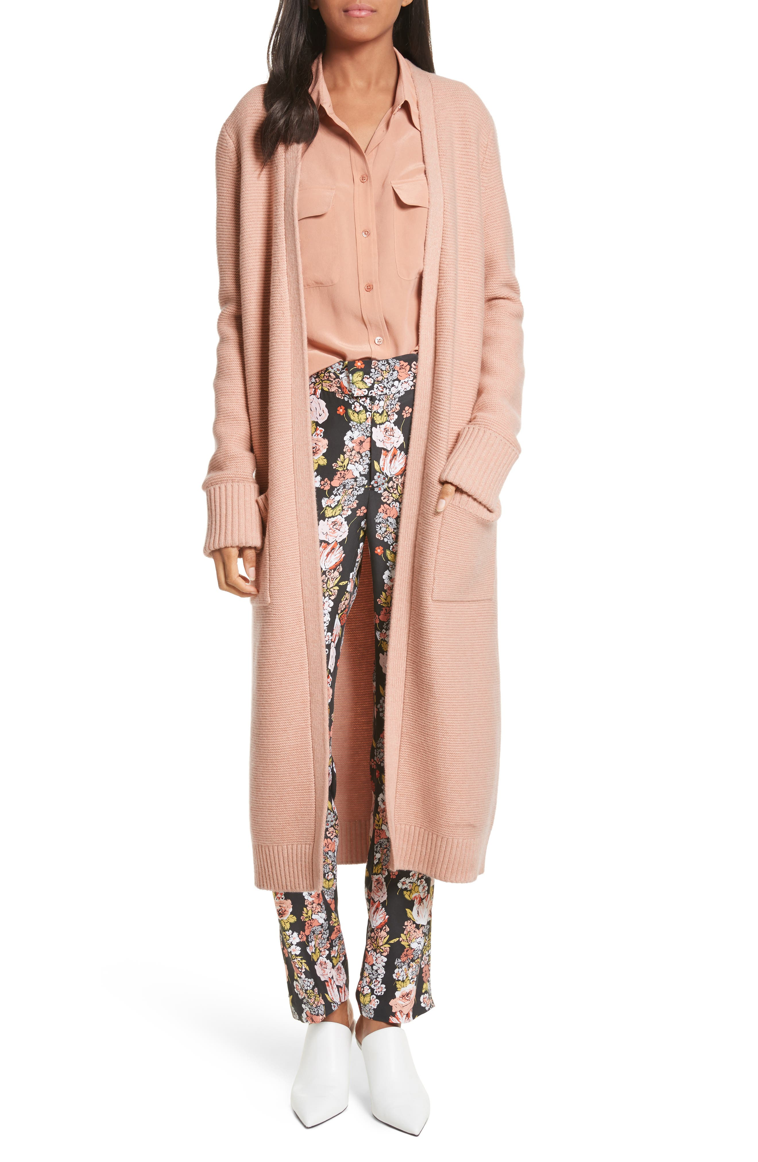 Ashby Long Patch Pocket Cardigan,                         Main,                         color, Bellini