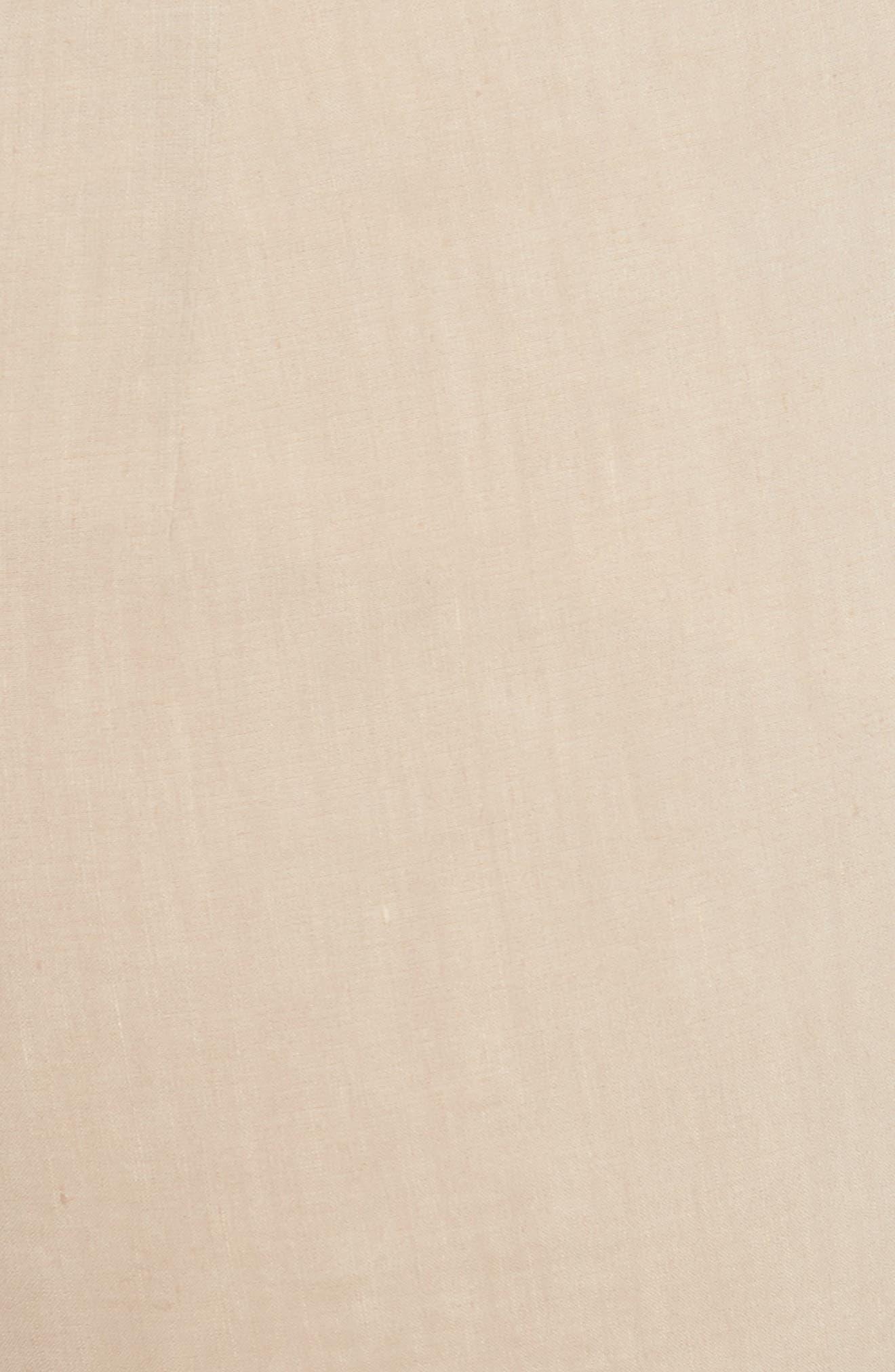 Pull-On Linen Blend Pants,                             Alternate thumbnail 6, color,                             Light Wheat