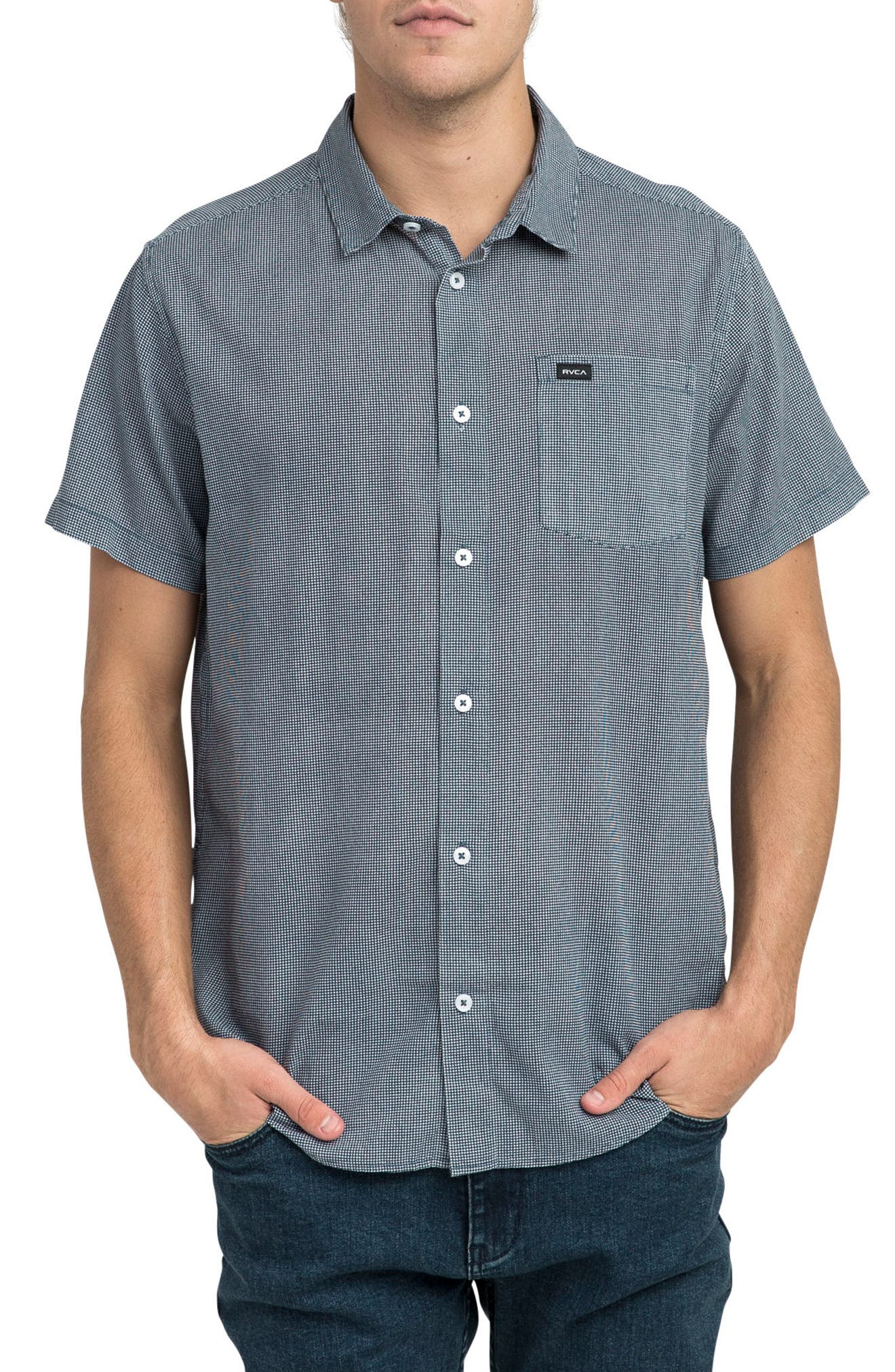 Rvca  NO NAME WOVEN SHIRT