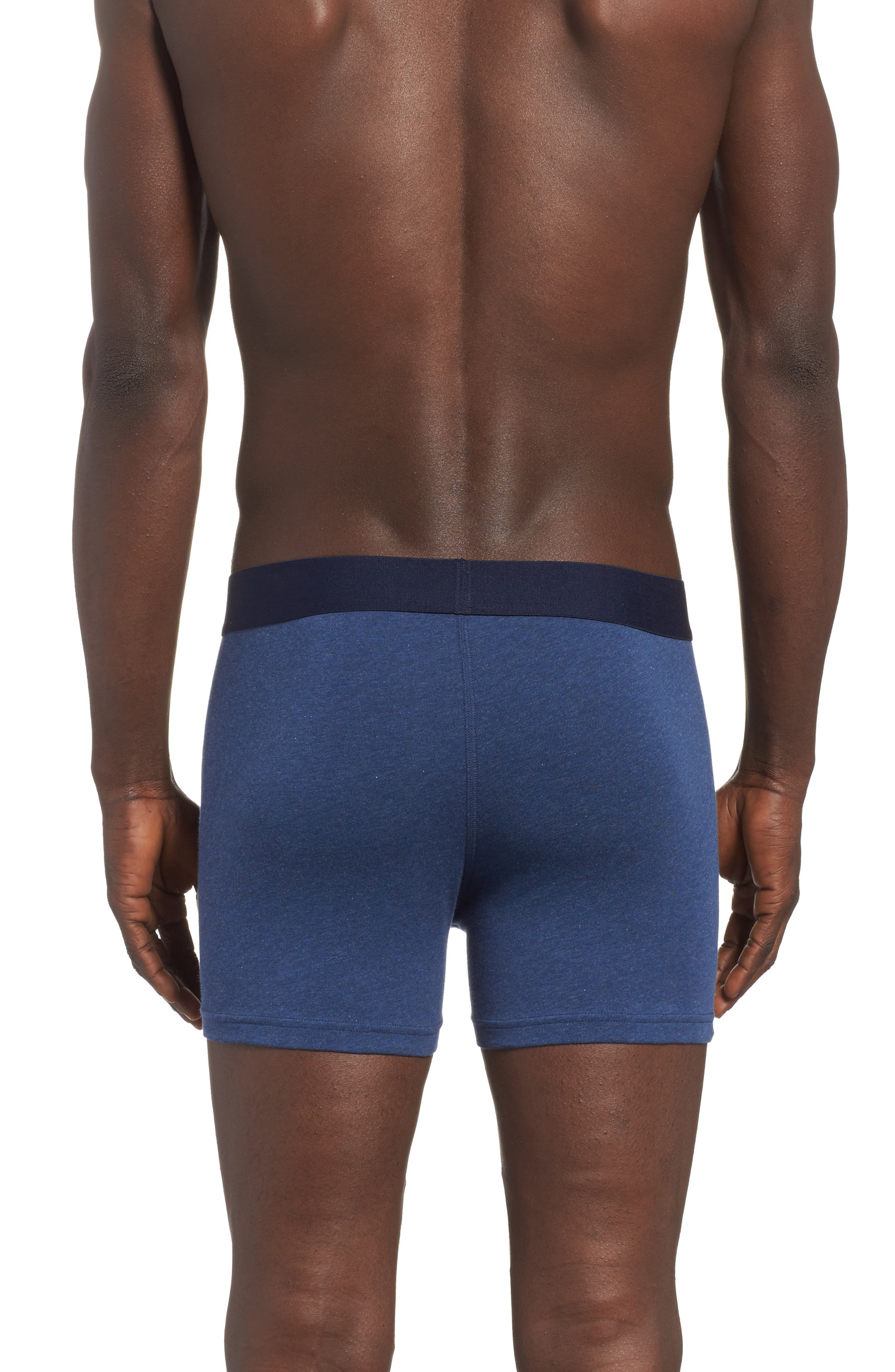 2-Pack Boxer Briefs,                             Alternate thumbnail 3, color,                             Navy/ Navy Heather