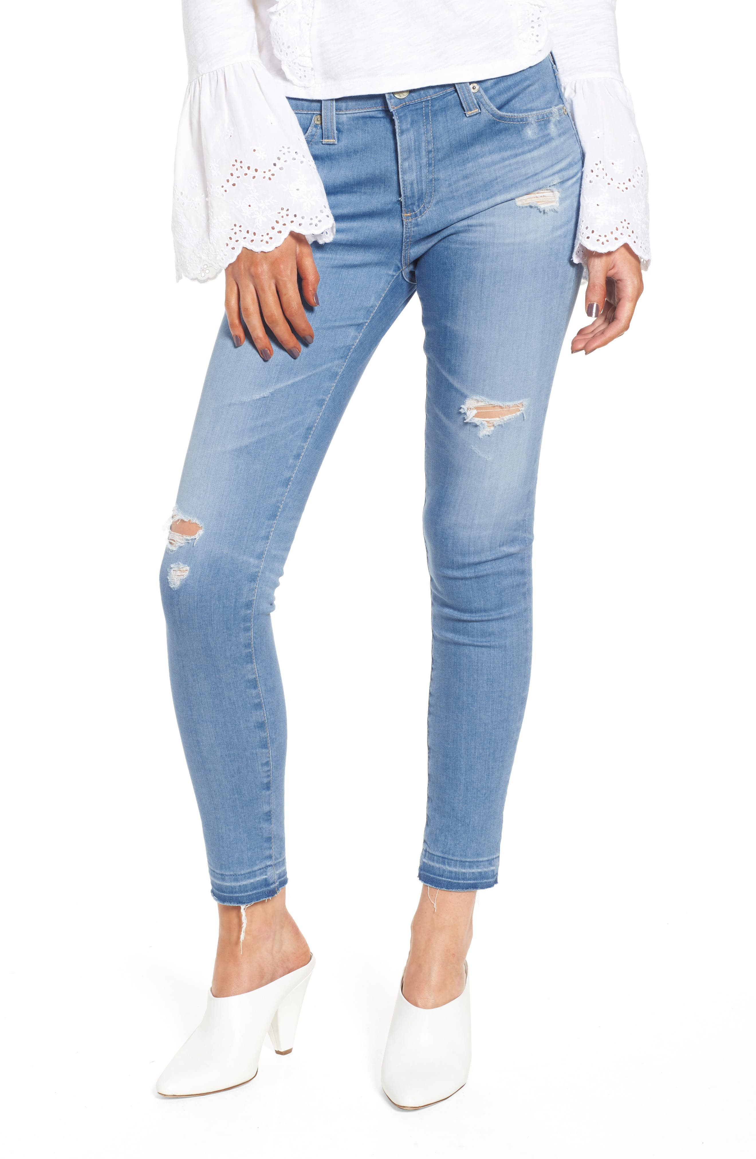 Main Image - AG The Legging Ankle Super Skinny Jeans (20 Years Freshwater Destructed)