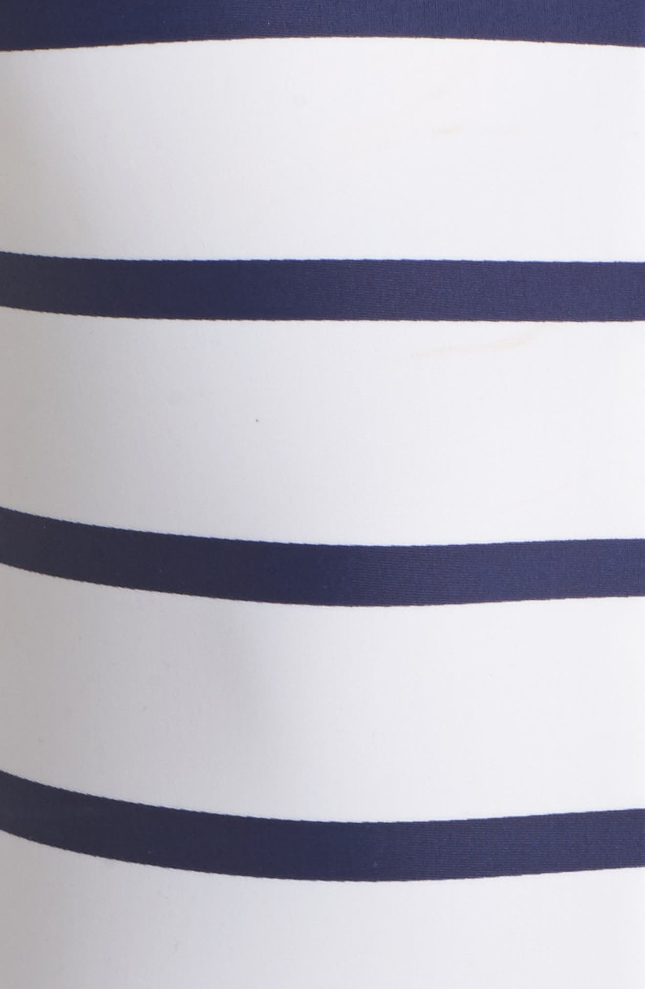 Long Sleeve One-Piece Swimsuit,                             Alternate thumbnail 5, color,                             Navy/ White