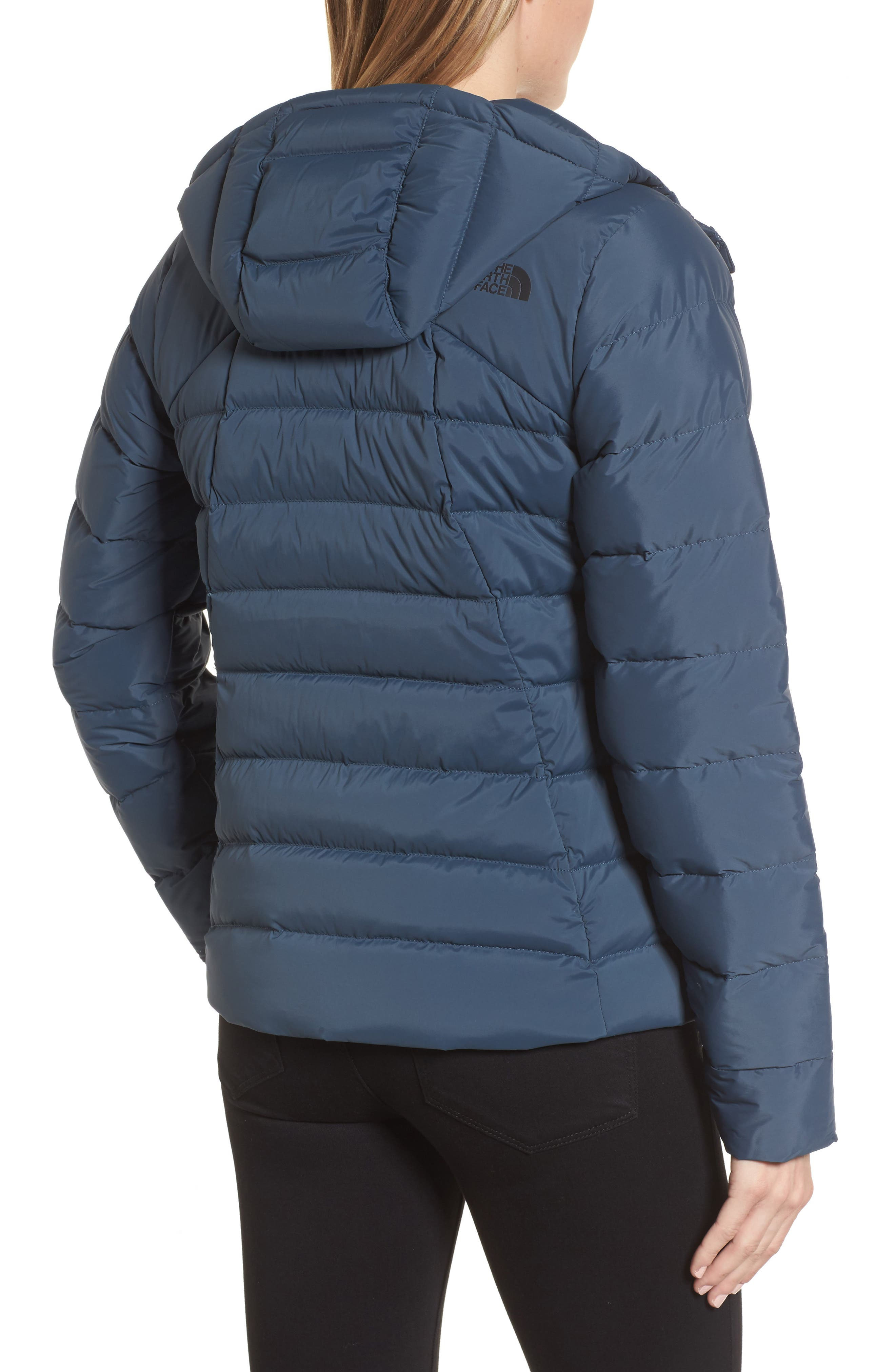 Alternate Image 2  - The North Face W Hooded Stretch Down Jacket