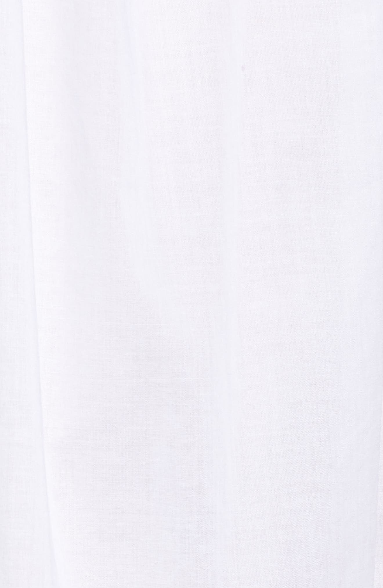 Embroidered Cotton Nightgown,                             Alternate thumbnail 6, color,                             White Floral Embroidery