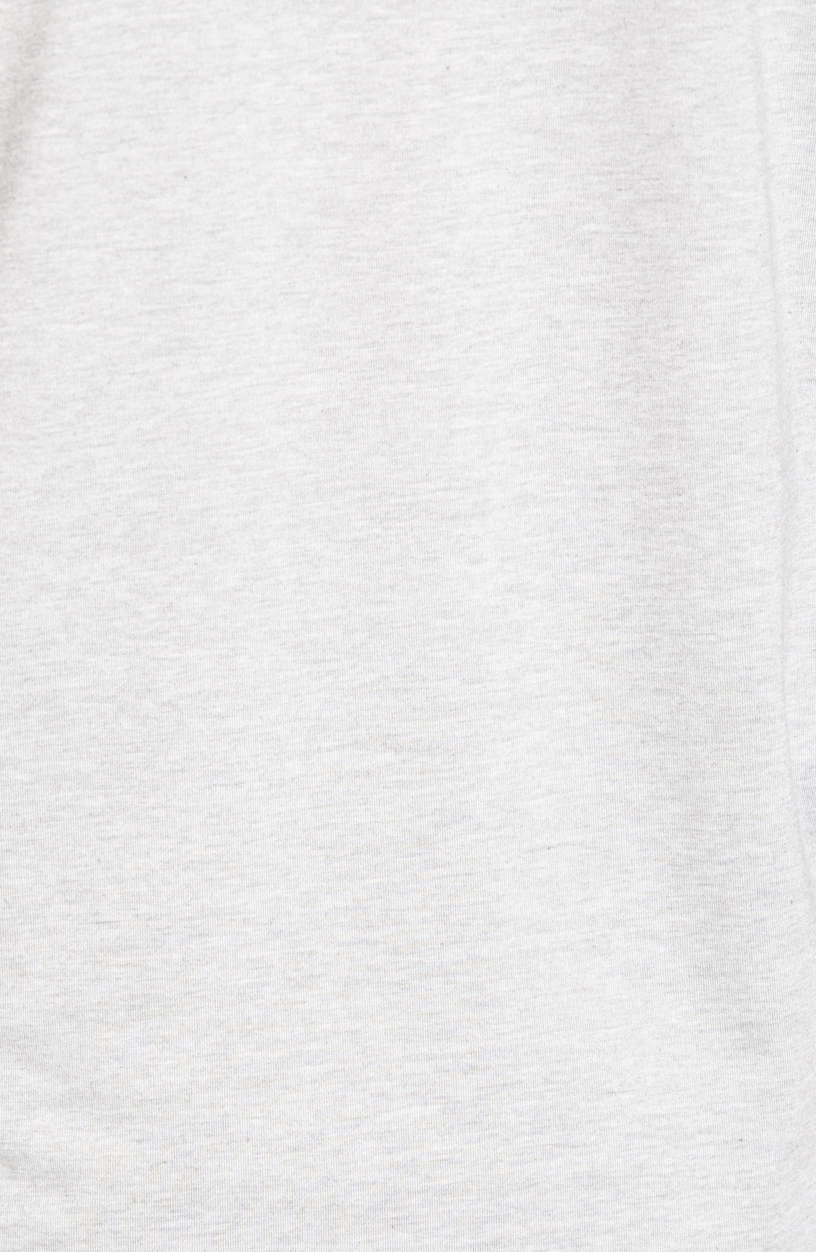 Yantra Long Sleeve T-Shirt,                             Alternate thumbnail 5, color,                             Heather Grey/ Heather Grey