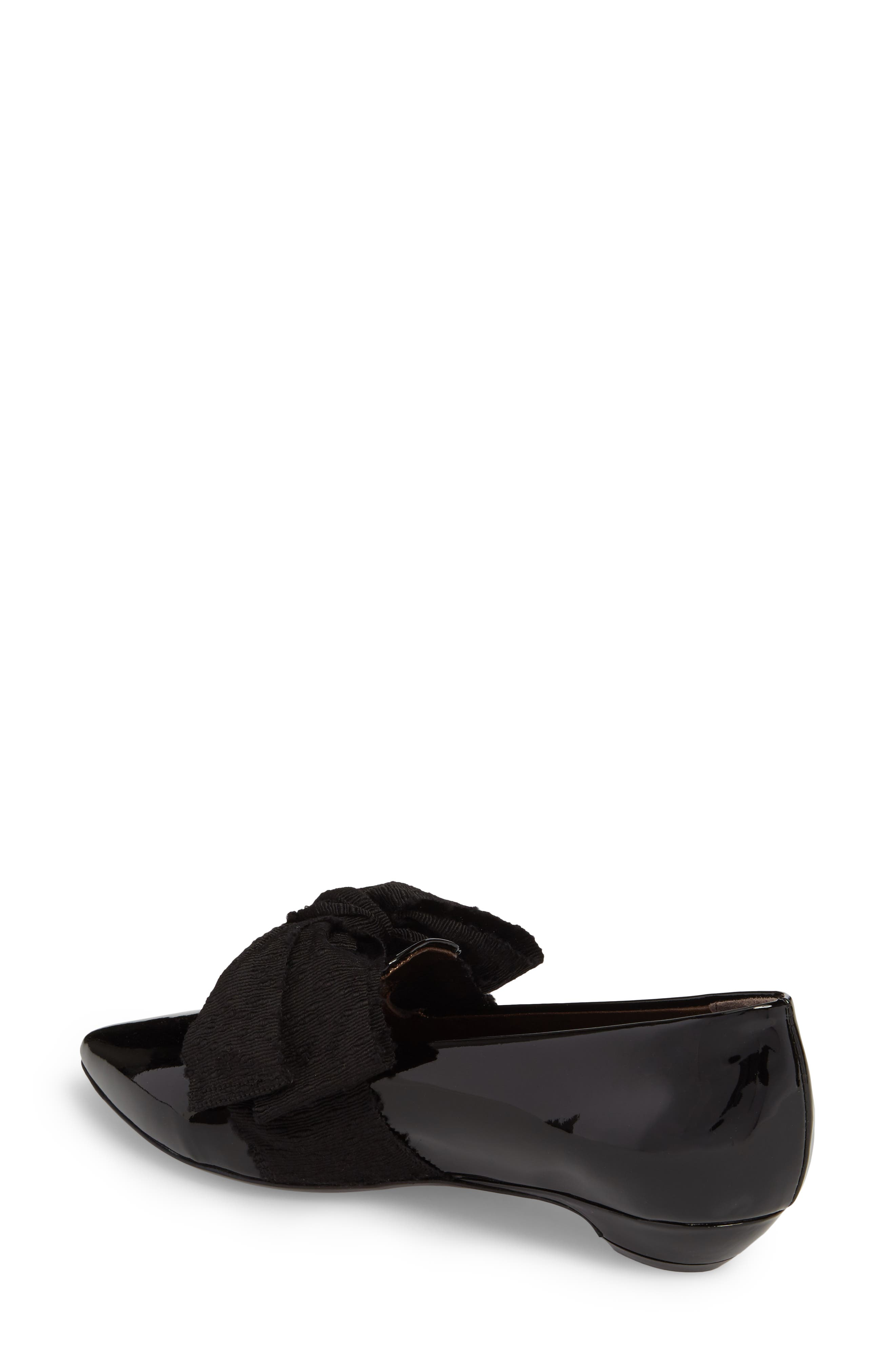 Maggie Bow Loafer,                             Alternate thumbnail 2, color,                             Black Patent