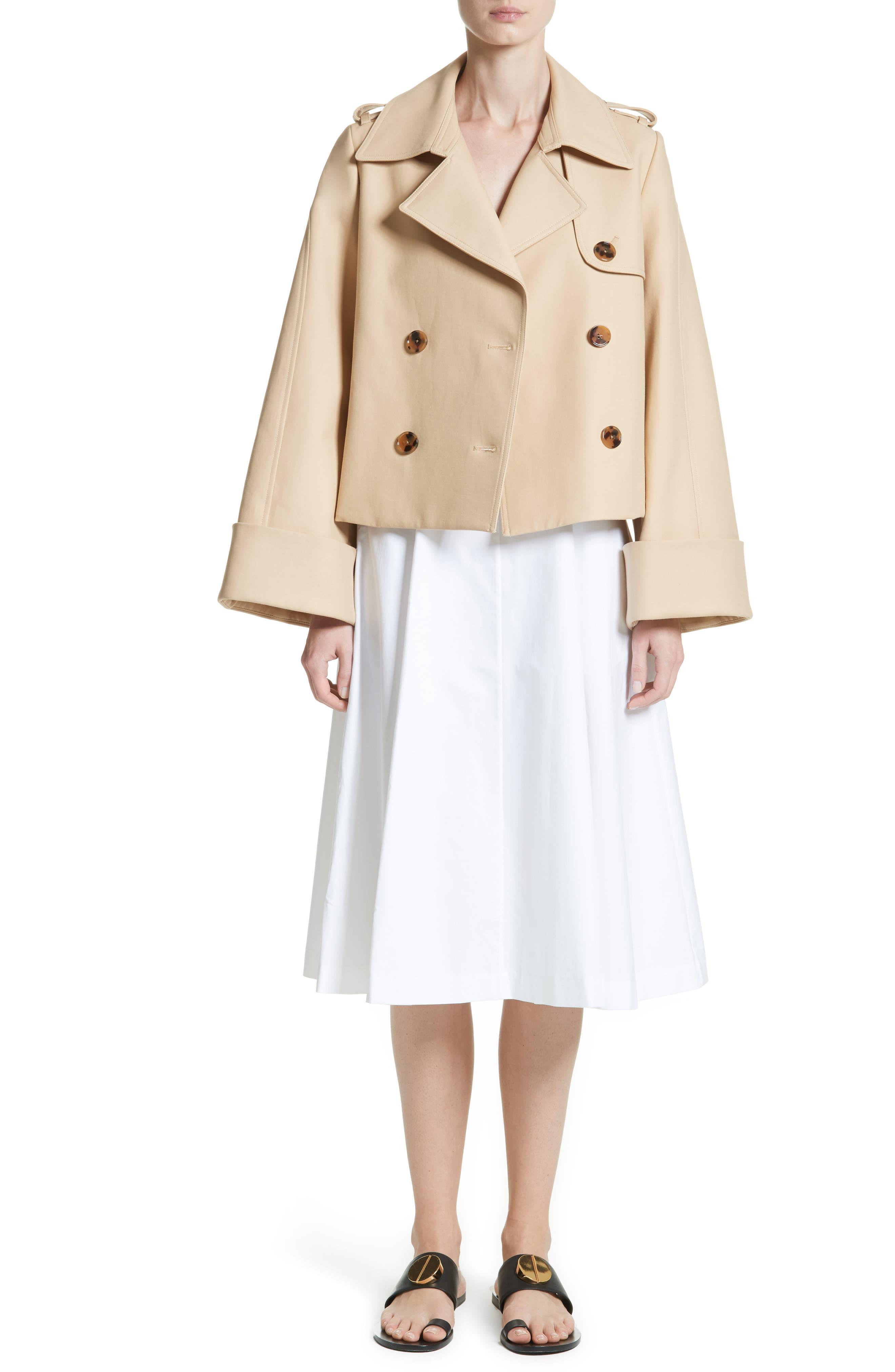 Cindy Poplin Tank Dress,                             Alternate thumbnail 8, color,                             White