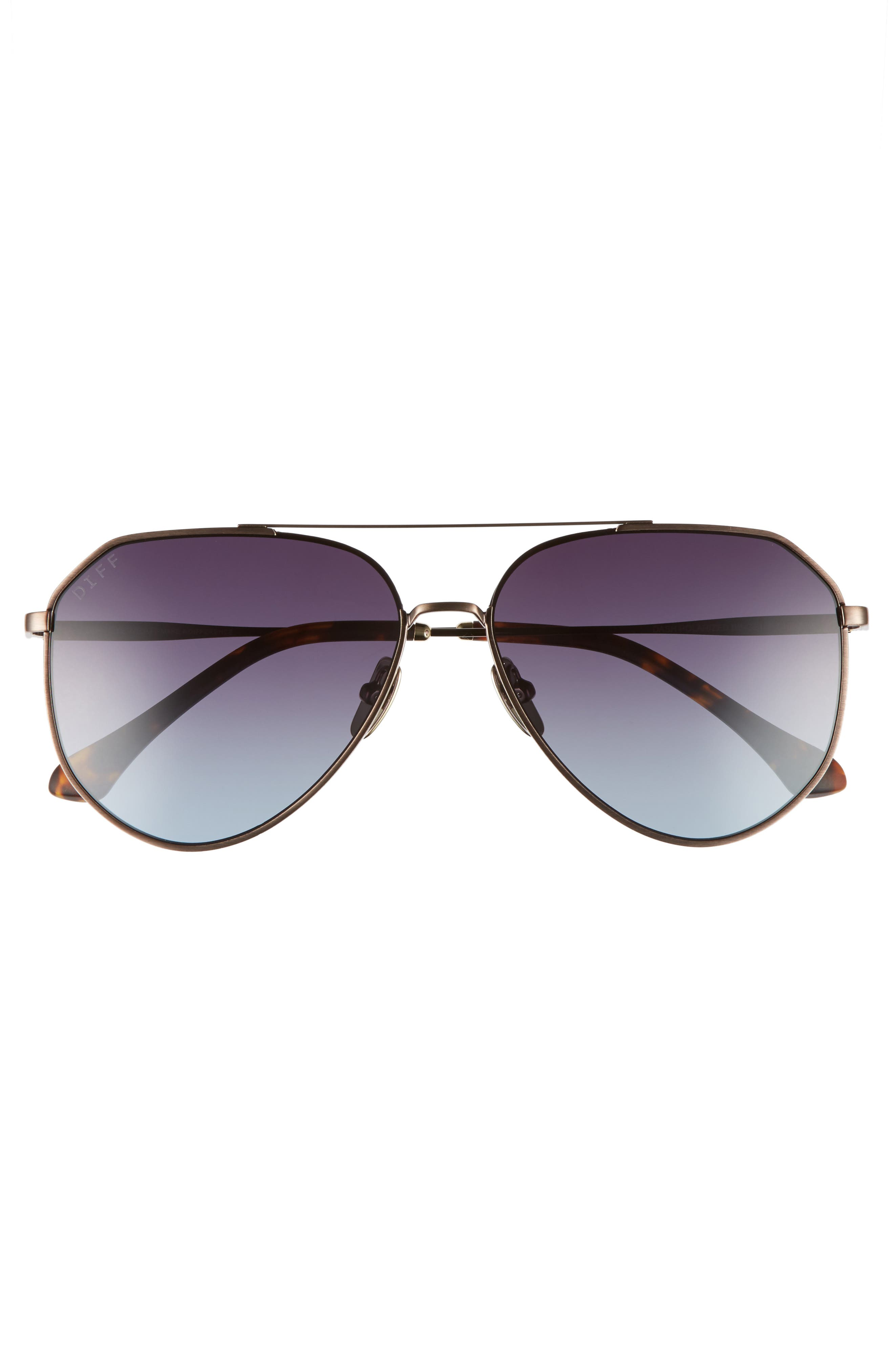 Alternate Image 4  - DIFF Dash 58mm Aviator Sunglasses