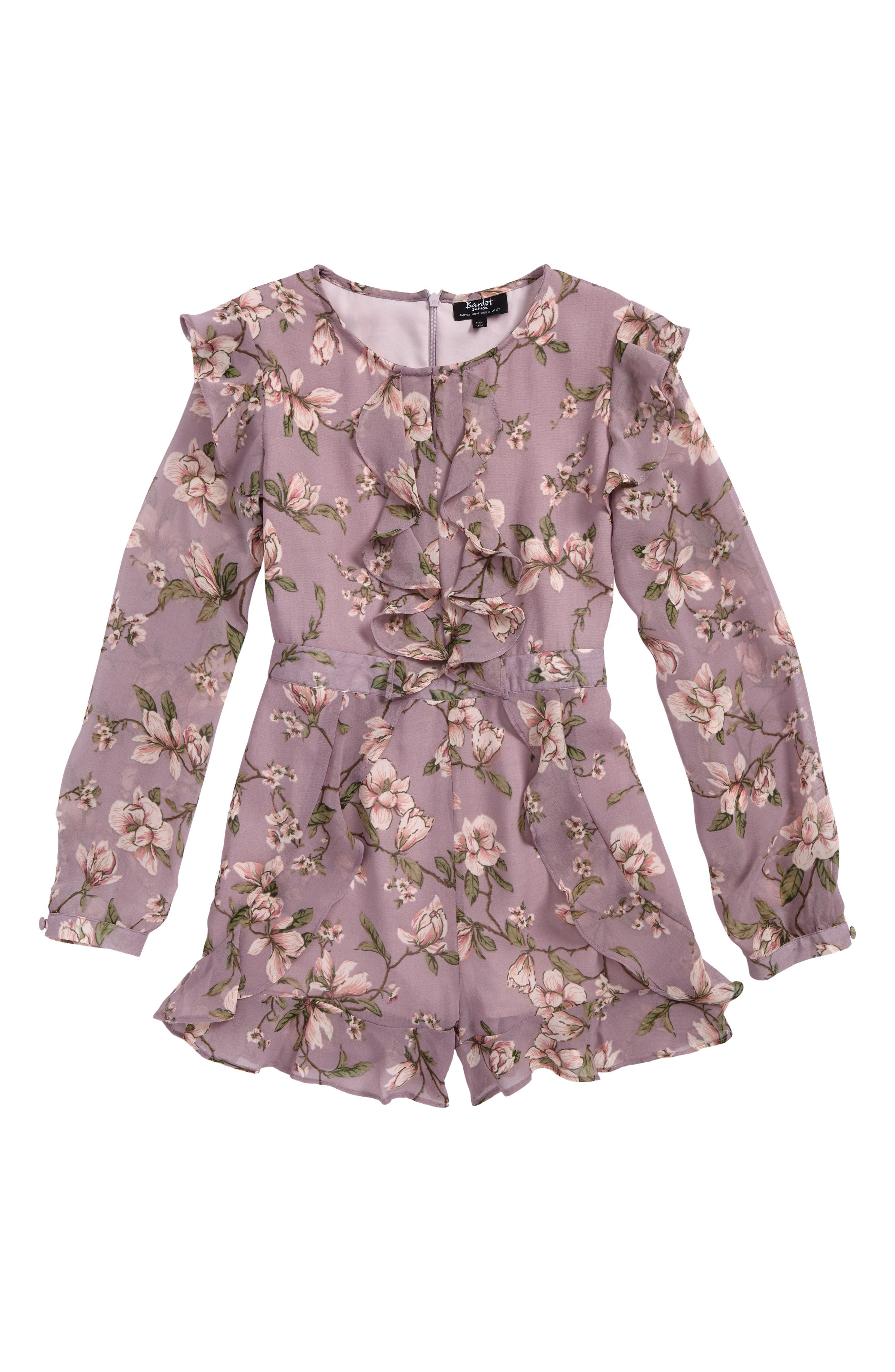 Alternate Image 1 Selected - Bardot Junior Magnolia Floral Romper (Little Girls & Big Girls)
