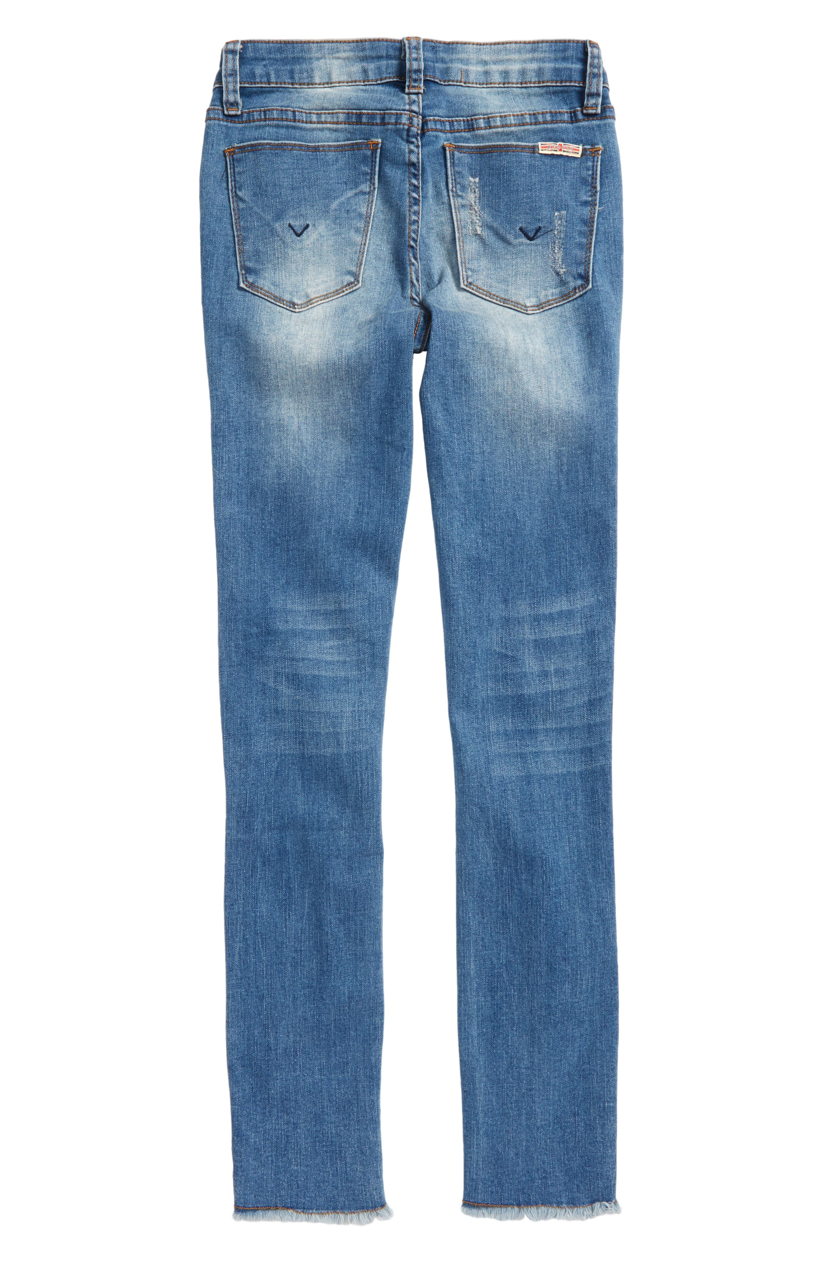 Fray Hem Skinny Jeans,                             Alternate thumbnail 2, color,                             Northern Lights