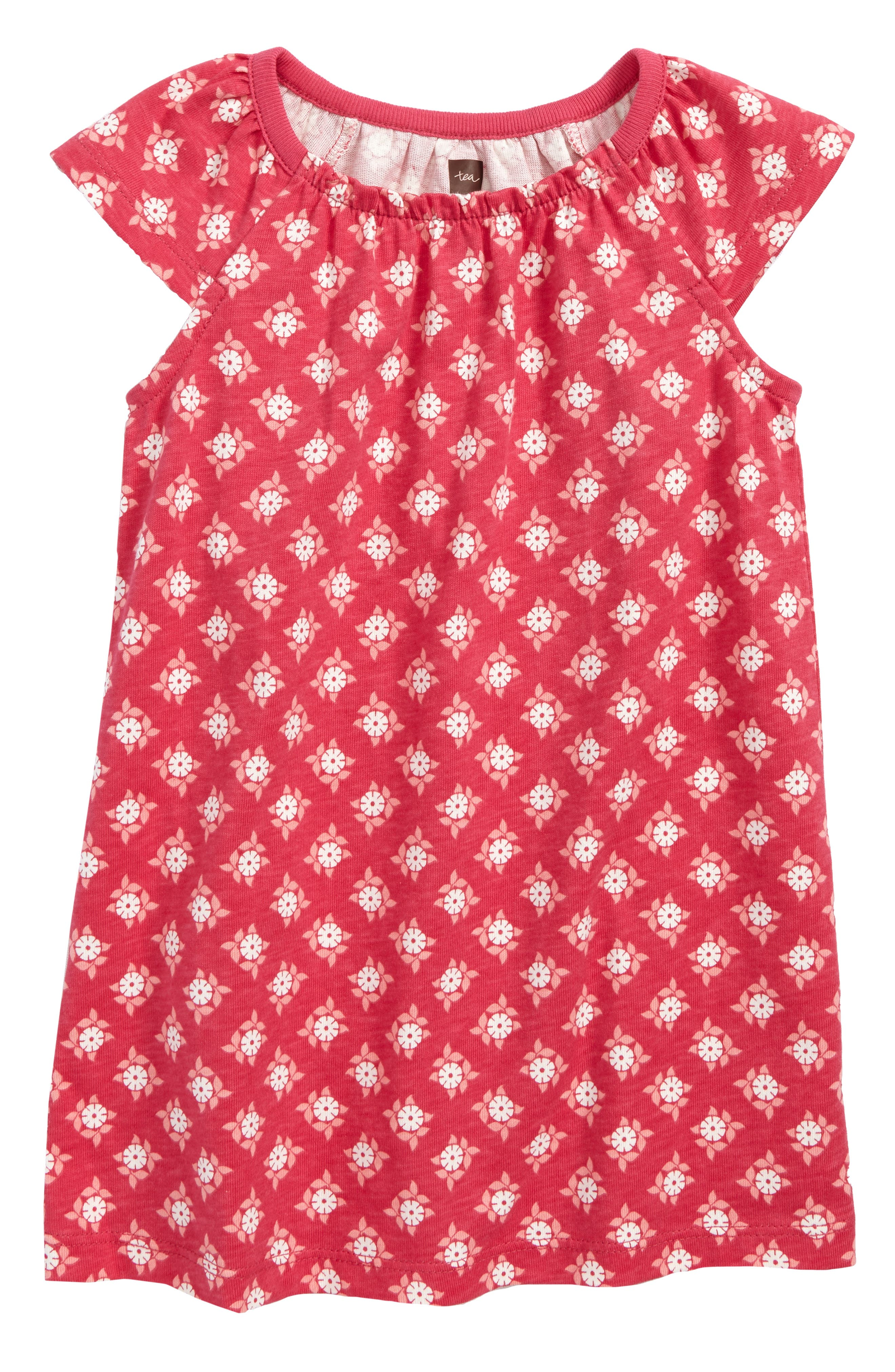 Sunburst Dress,                         Main,                         color, Azalea