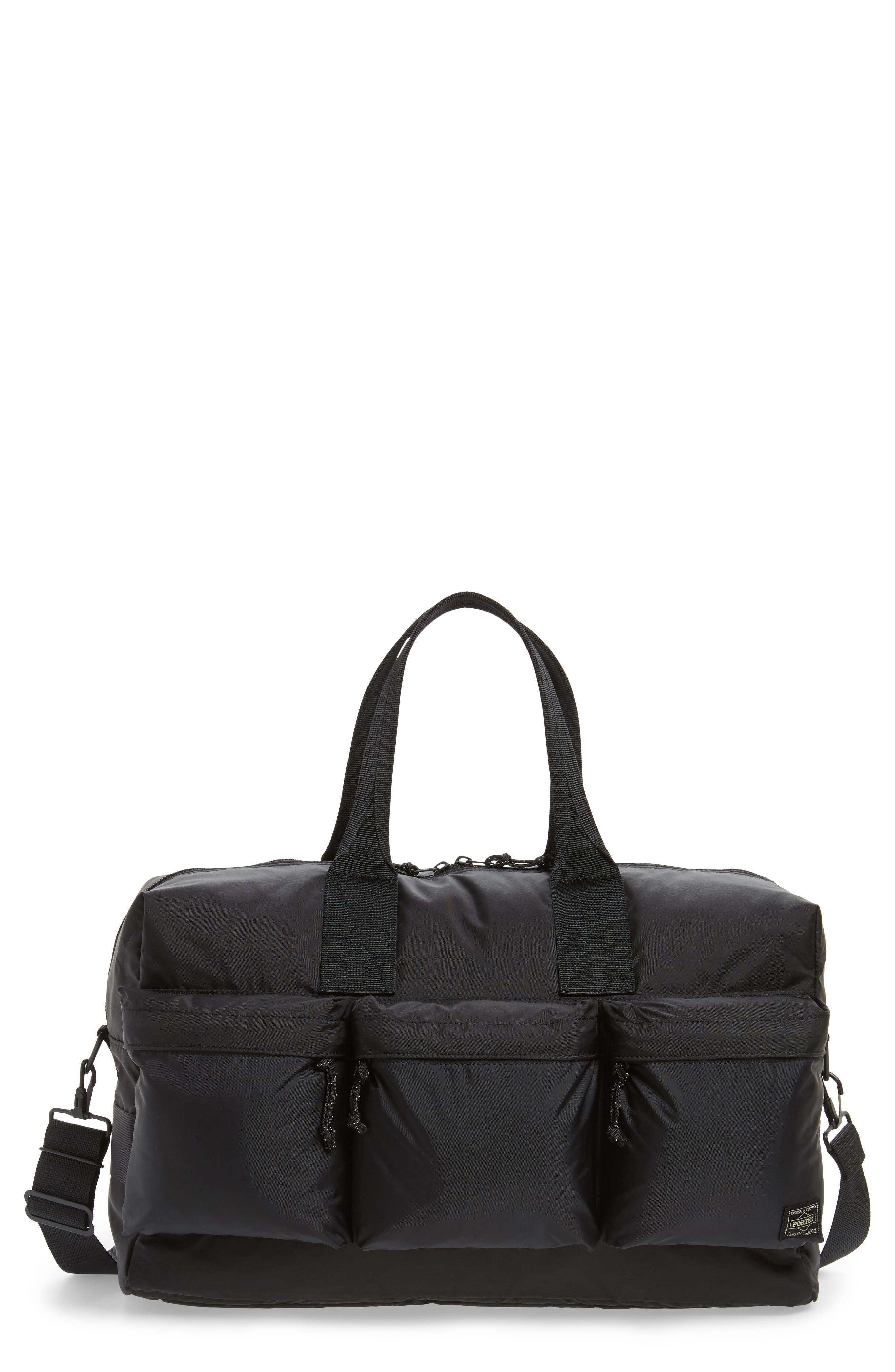 Porter-Yoshida & Co. Force Duffel Bag,                             Main thumbnail 1, color,                             Black