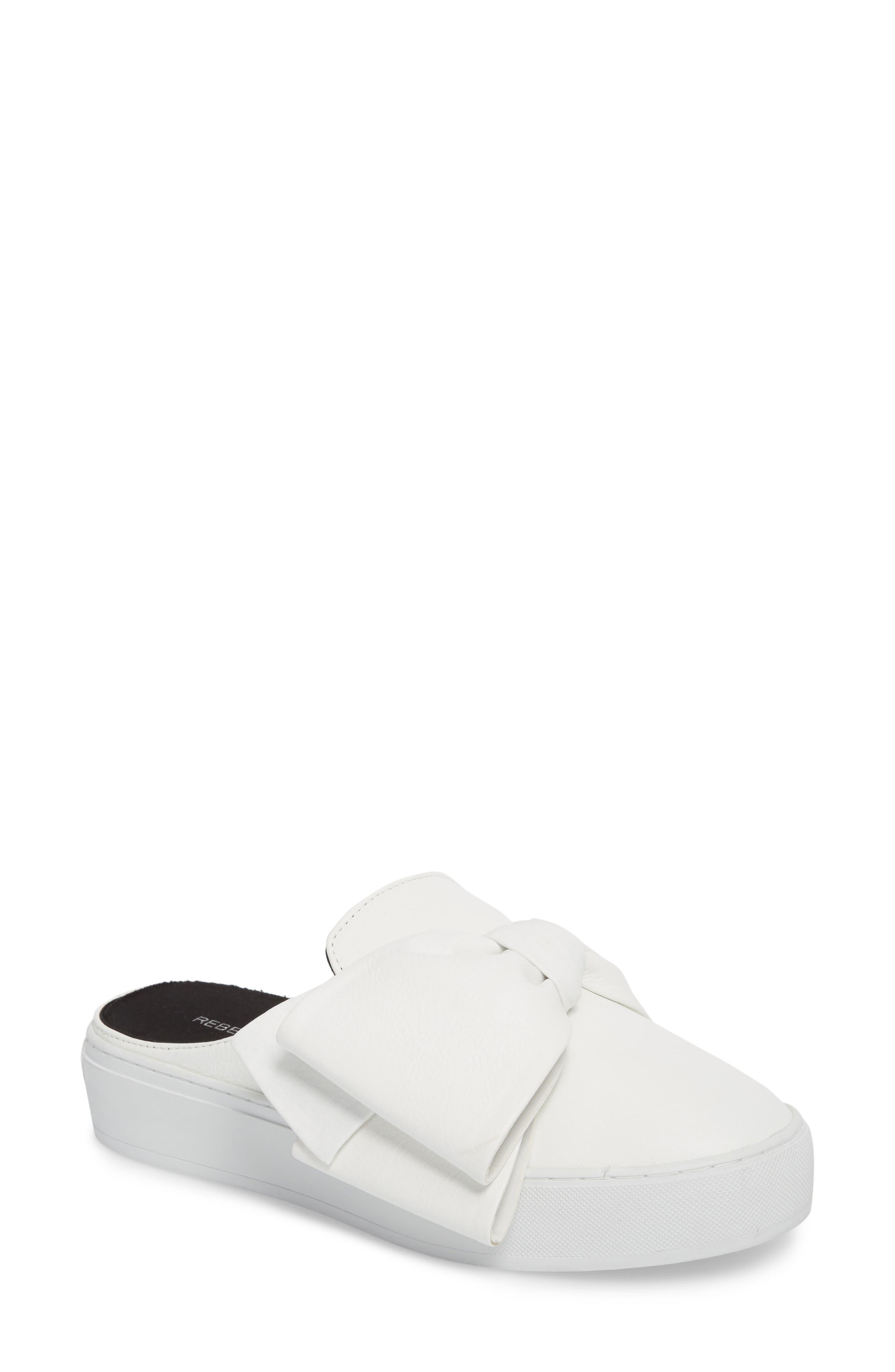 Neva Sneaker Mule,                         Main,                         color, Optic White Leather