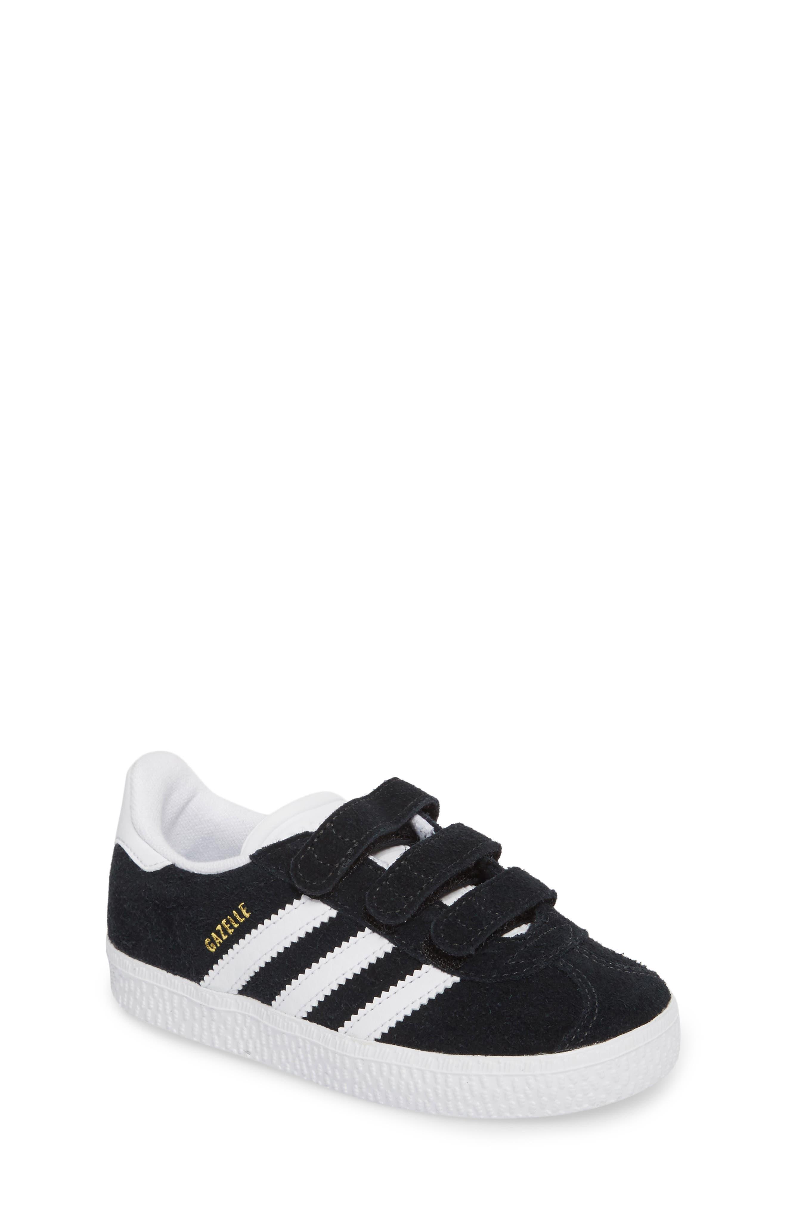 Gazelle Sneaker,                             Main thumbnail 1, color,                             Core Black / White / White