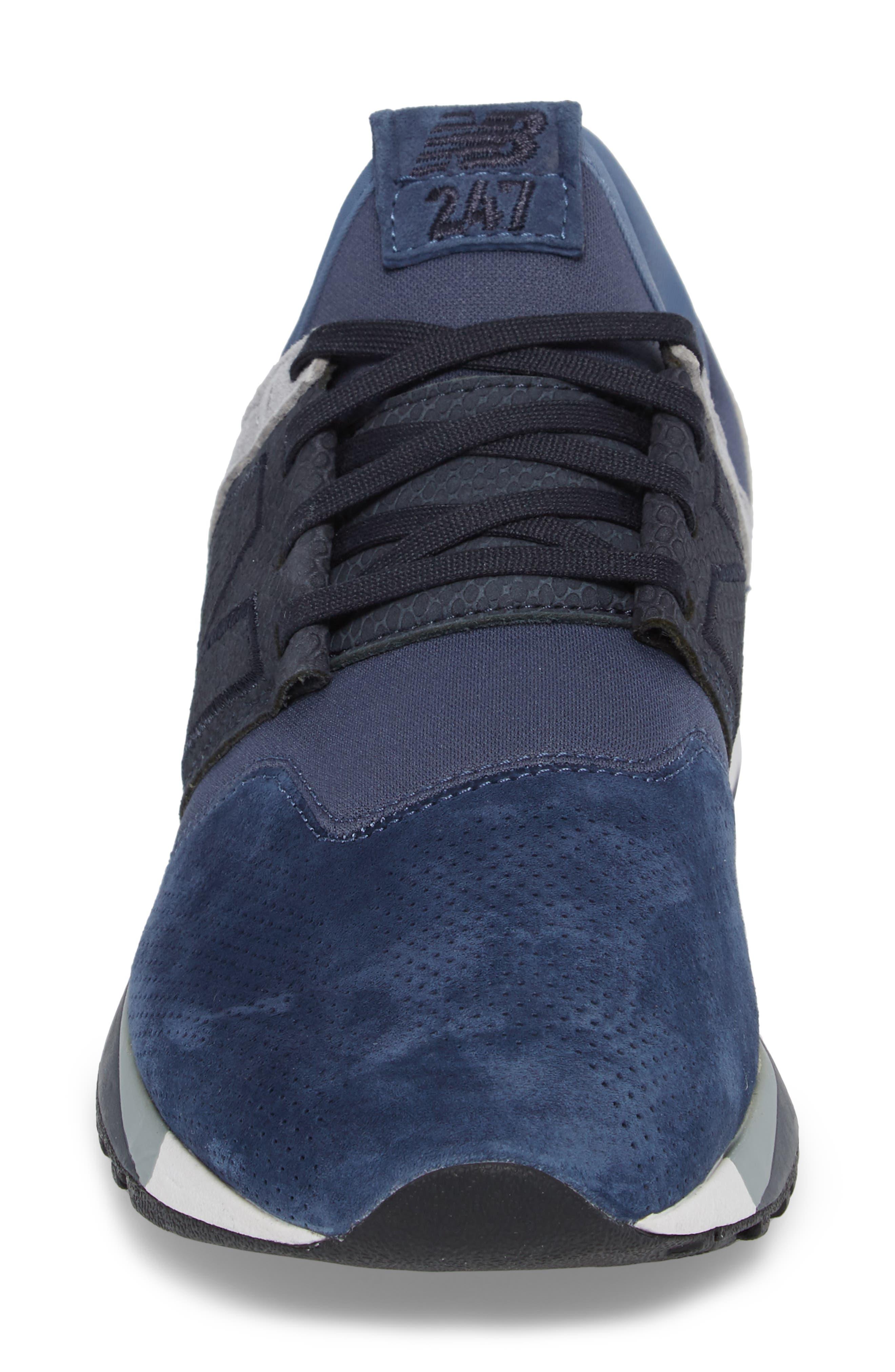 247 Luxe Sneaker,                             Alternate thumbnail 4, color,                             Blue