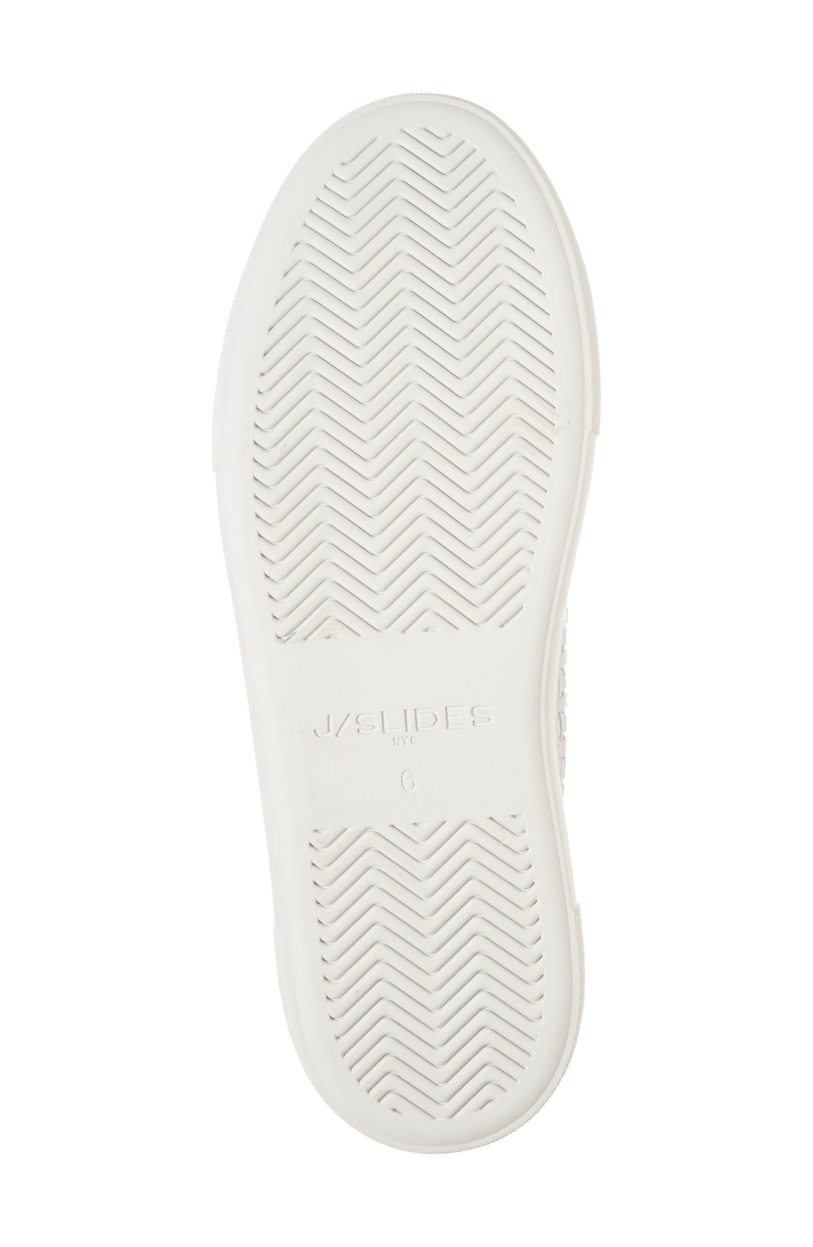 Artsy Woven Platform Sneaker,                             Alternate thumbnail 6, color,                             White Leather