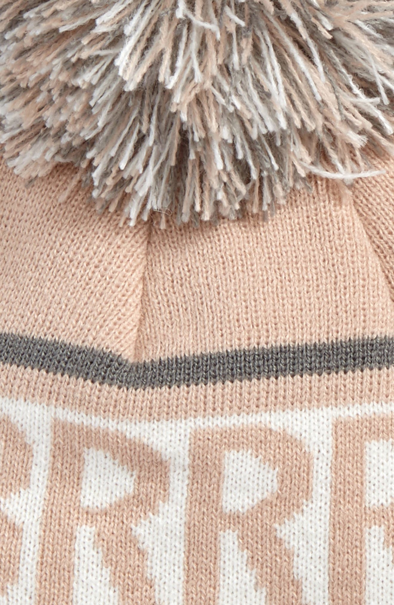 Verbiage Fair Isle Beanie,                             Alternate thumbnail 2, color,                             Blush