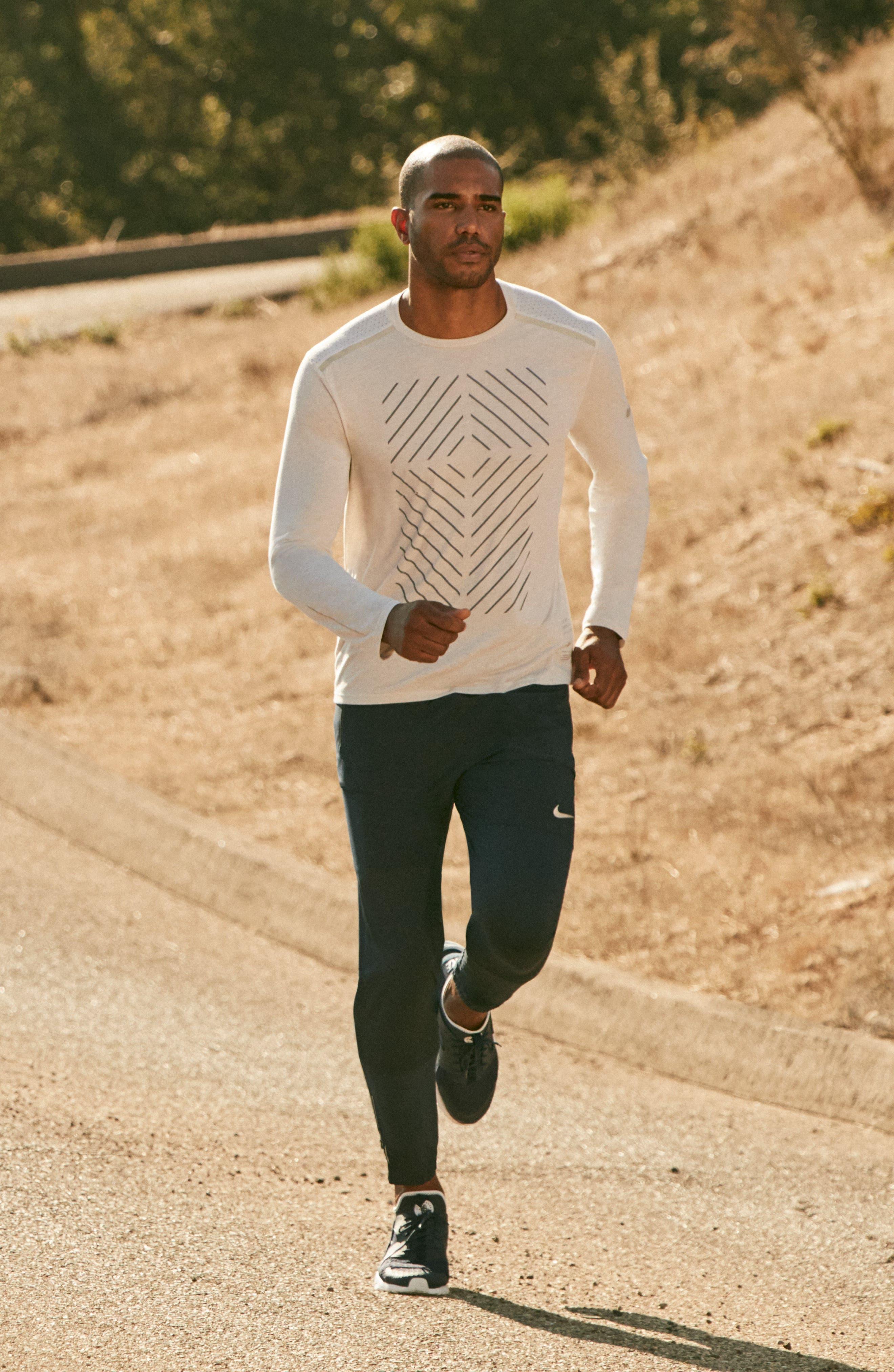 Tailwind Long Sleeve Running T-Shirt,                             Alternate thumbnail 7, color,